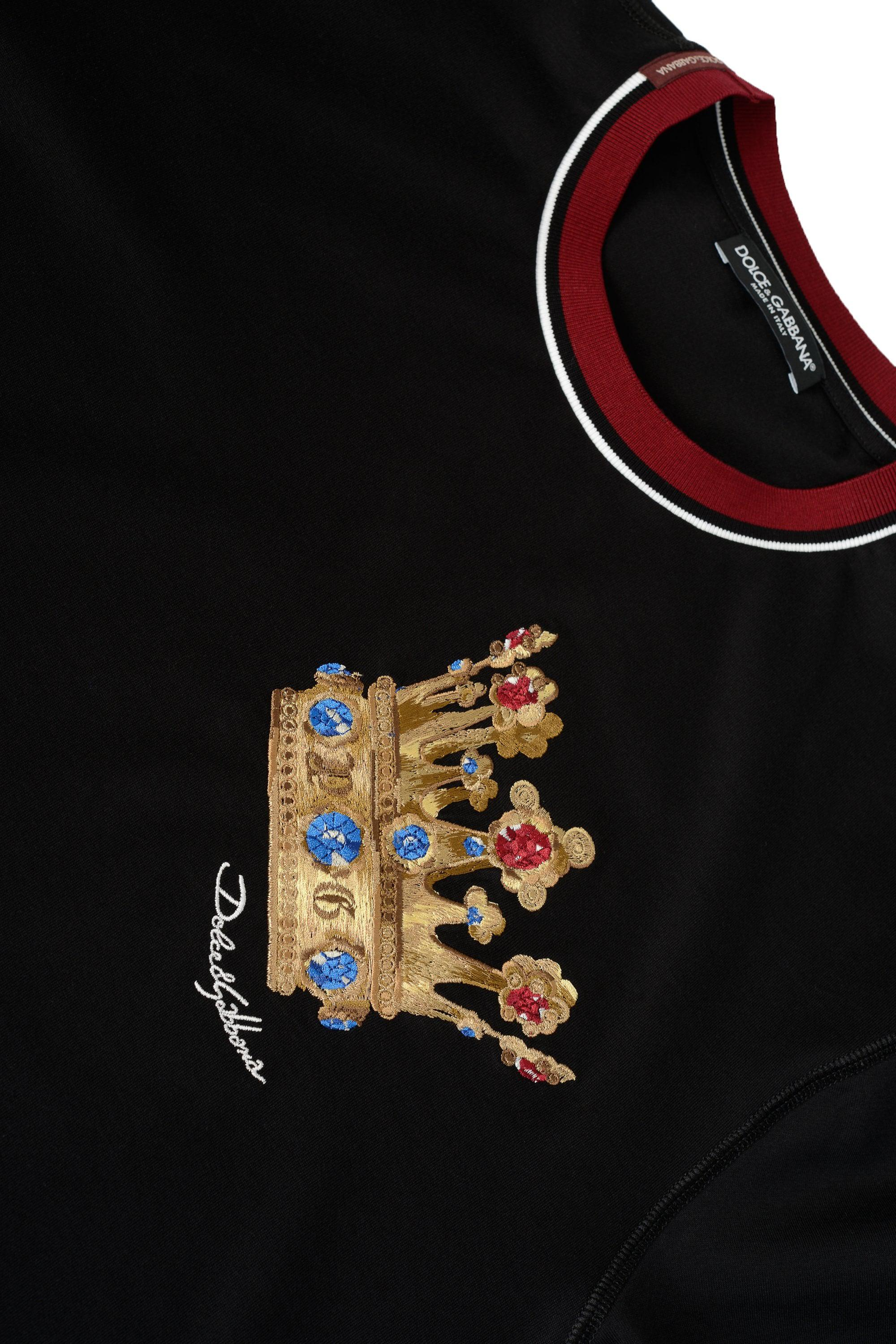 3ccf5fcacc7f Dolce   Gabbana Chest Crown T-shirt in Black for Men - Lyst