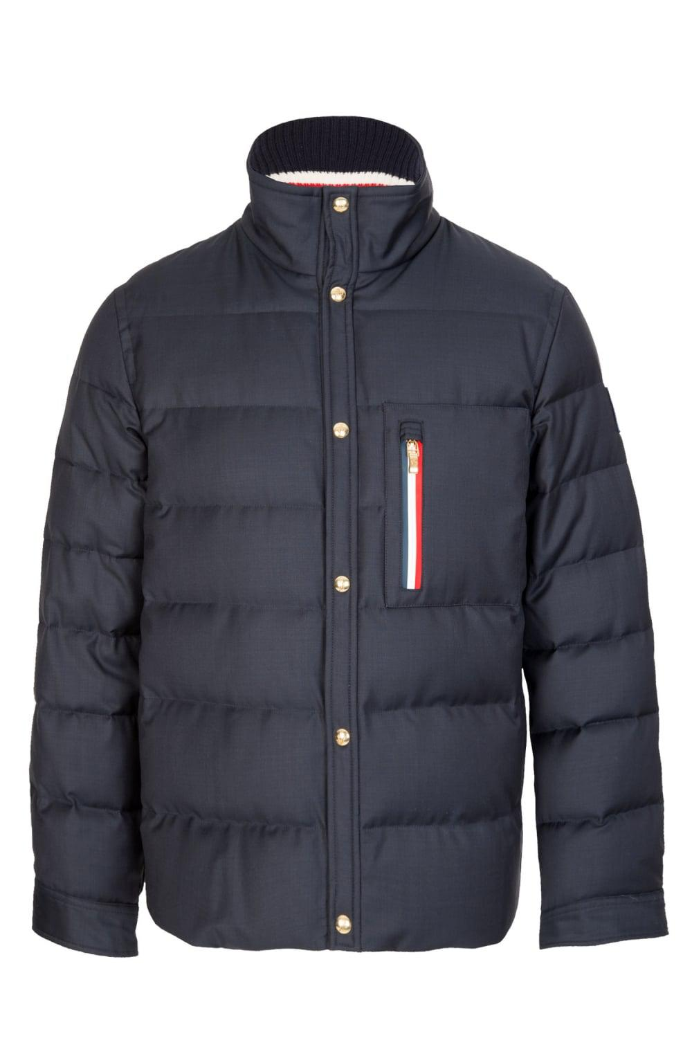 moncler gamme bleu stripe pocket jacket navy in blue for men lyst rh lyst co uk