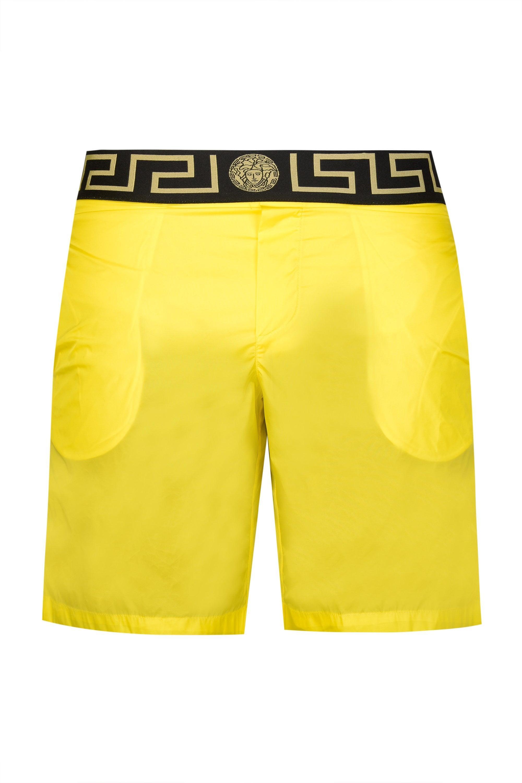 5d069c6ebf Versace. Men's Yellow Greca Print Wasitband Mid Swim Shorts. £200 From Circle  Fashion
