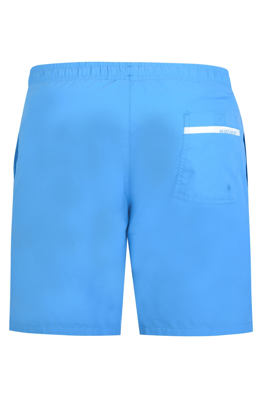 1fecf20b BOSS - Blue Hugo Dolphin Swim Shorts for Men - Lyst. View fullscreen