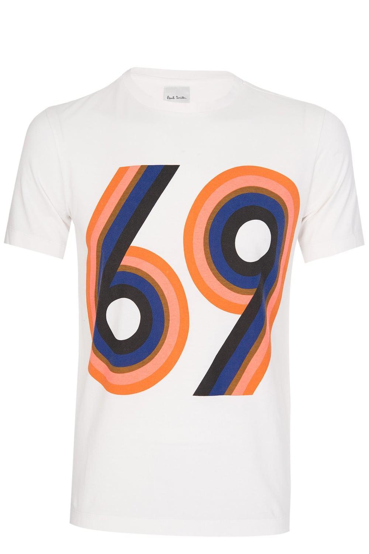 0829078e0 Paul Smith 69 Tshirt White in White for Men - Lyst