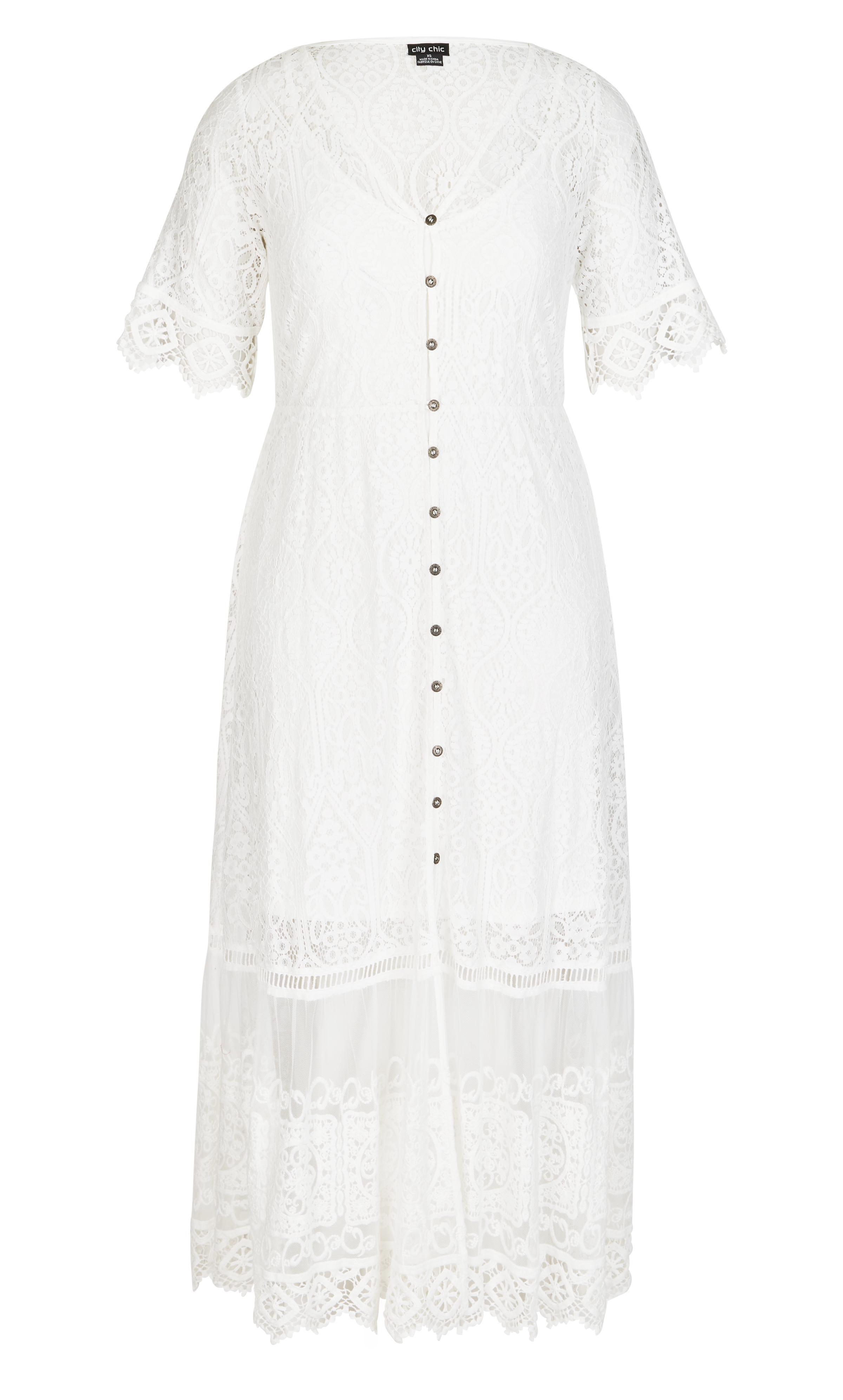 1f2a5cc7abc7a ... Ivory Summer Lace Maxi Dress - Lyst. View fullscreen