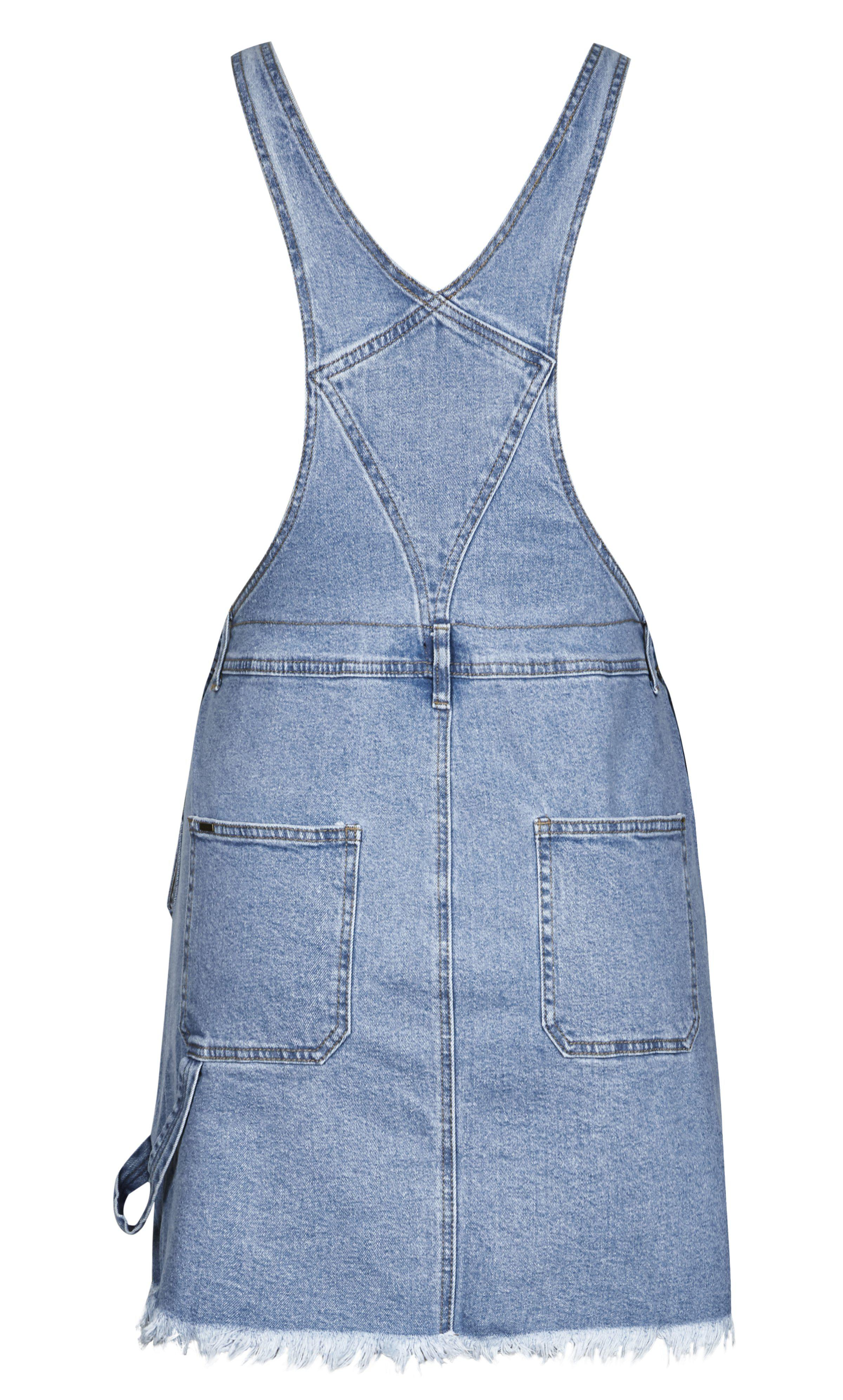 f0853462bf8 City Chic - Blue Denim Overall Bib Dress - Lyst. View fullscreen