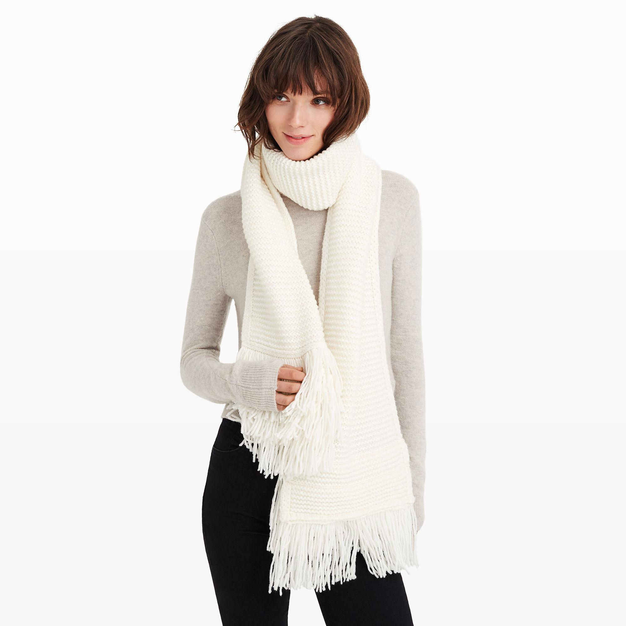 club monaco juki fringe scarf in lyst