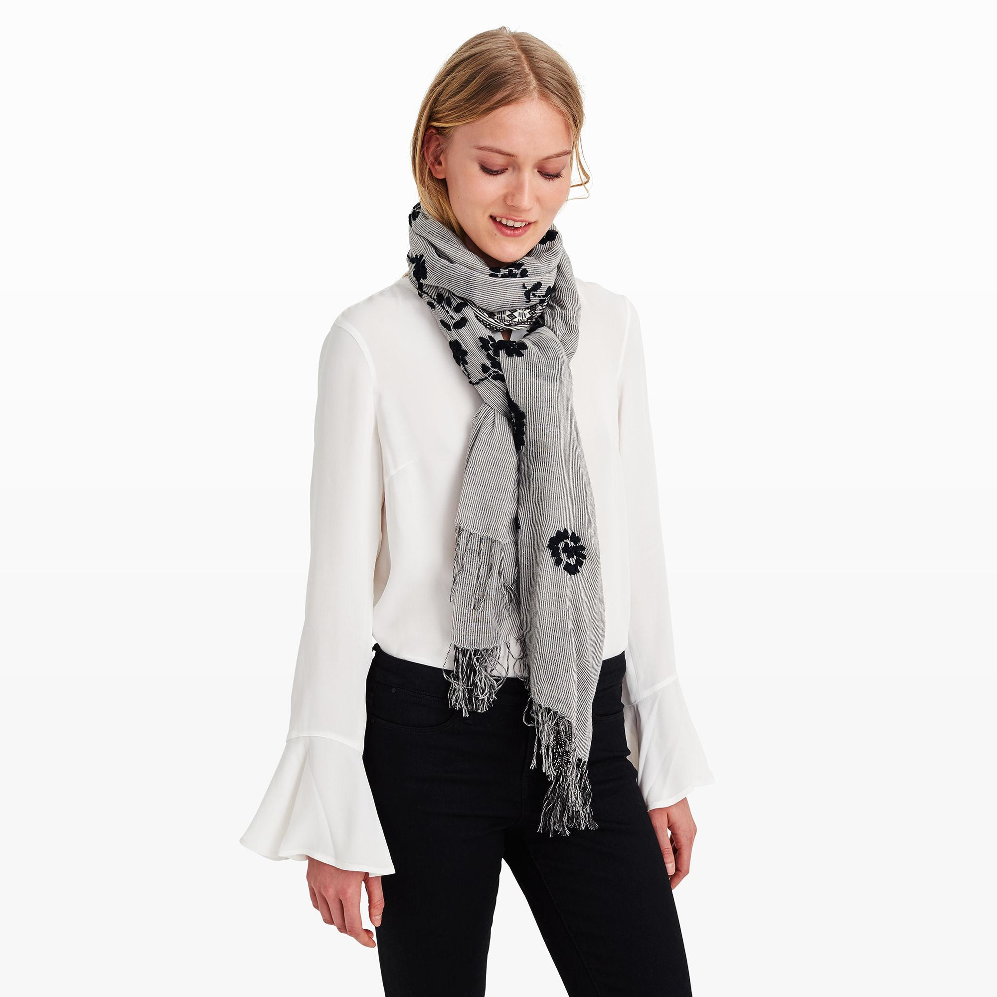 club monaco rosalind scarf in white lyst