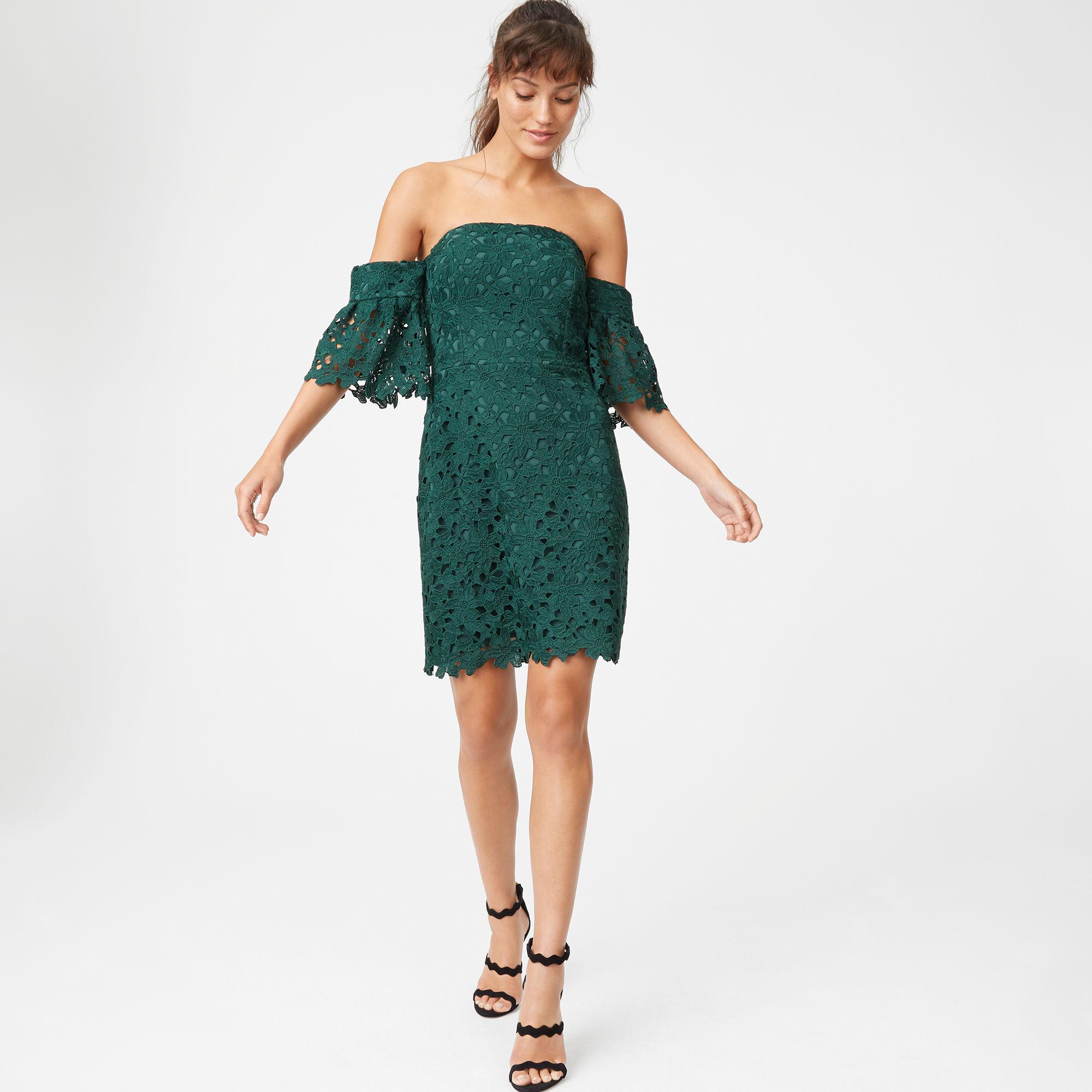 Club Monaco. Women's Green Damarah Lace Dress