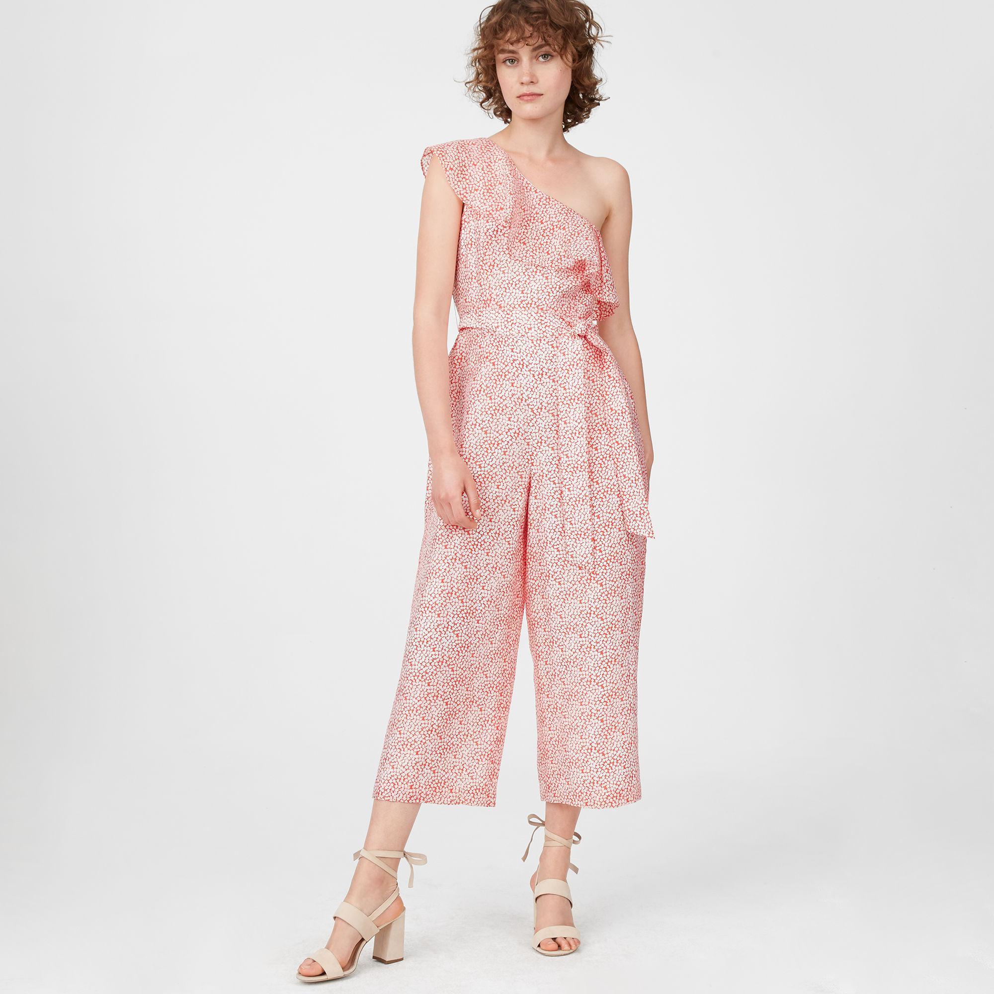d798b66f01ed Lyst - Club Monaco Lene Printed Jumpsuit in Pink