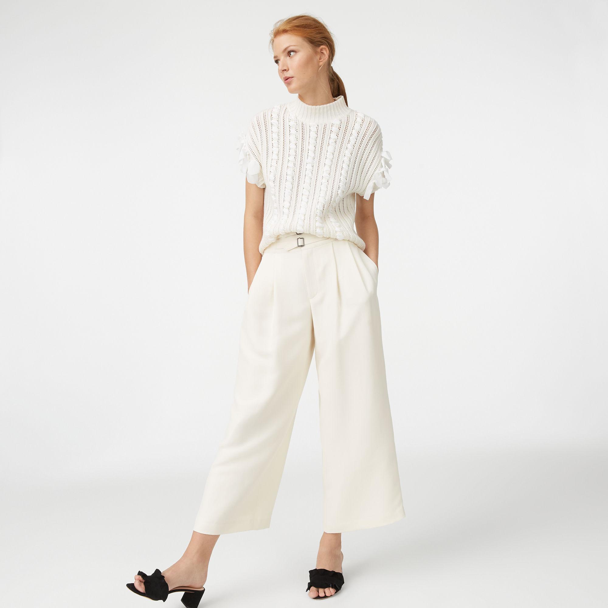 7584337b568 Lyst - Club Monaco Shiyah Pant in White