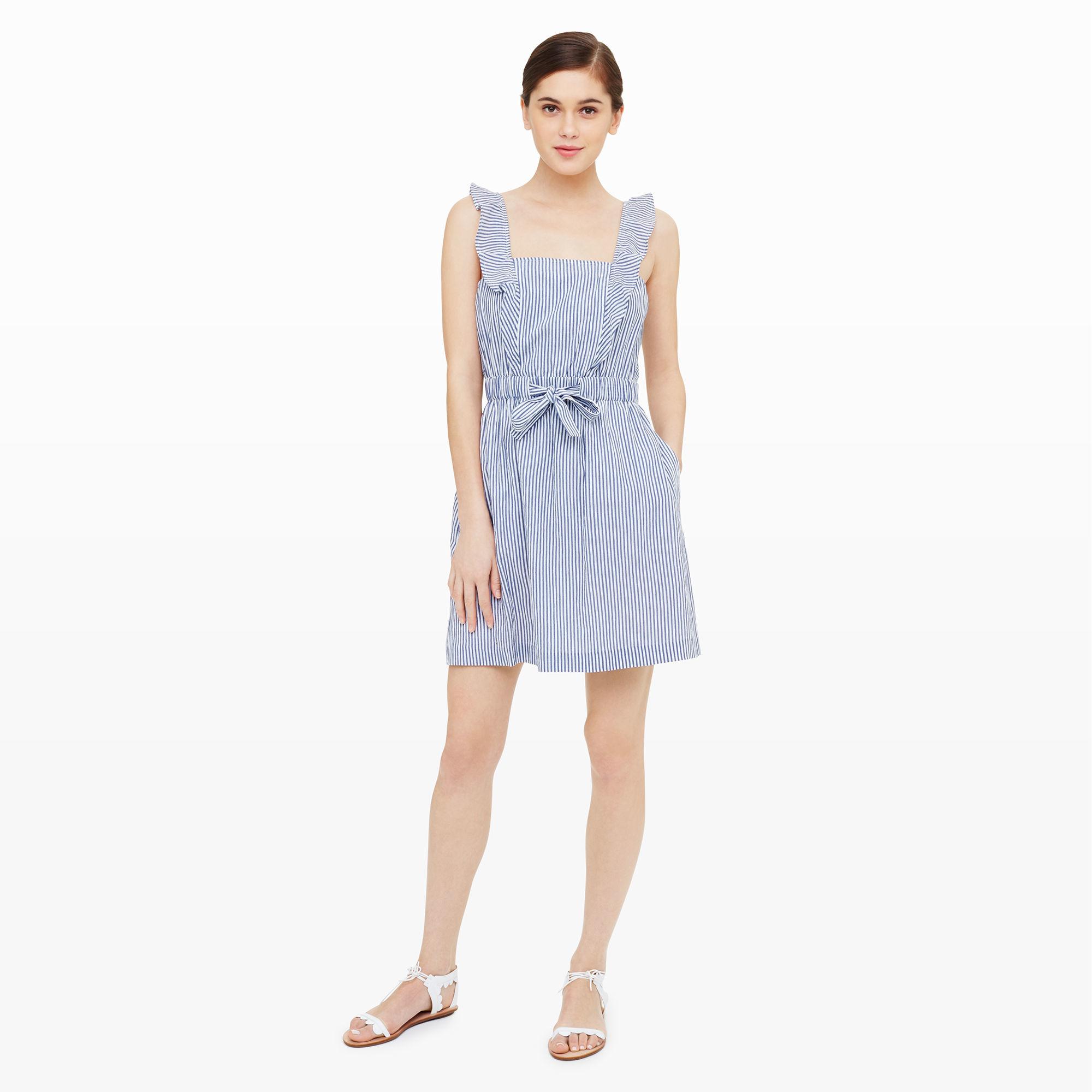 Lyst - Club Monaco Marona Seersucker Dress in Blue