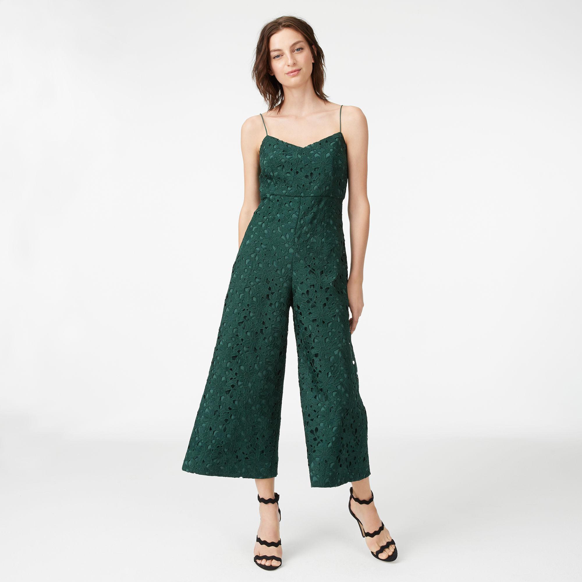 8bbaeb1c7785 Lyst - Club Monaco Samsarah Lace Jumpsuit in Green