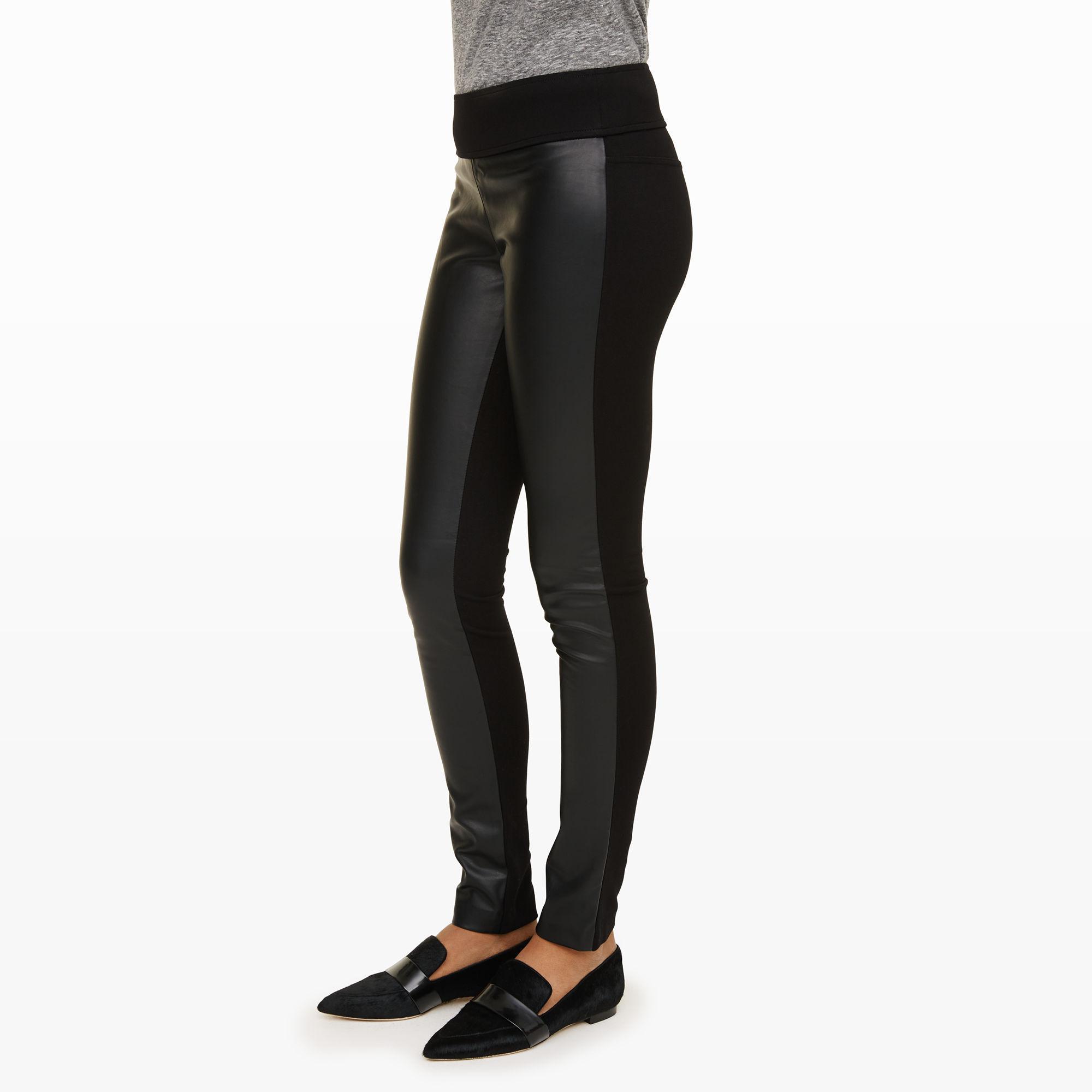 ad96ffc3960a2c Club Monaco Tasha Faux-leather Legging in Black - Lyst