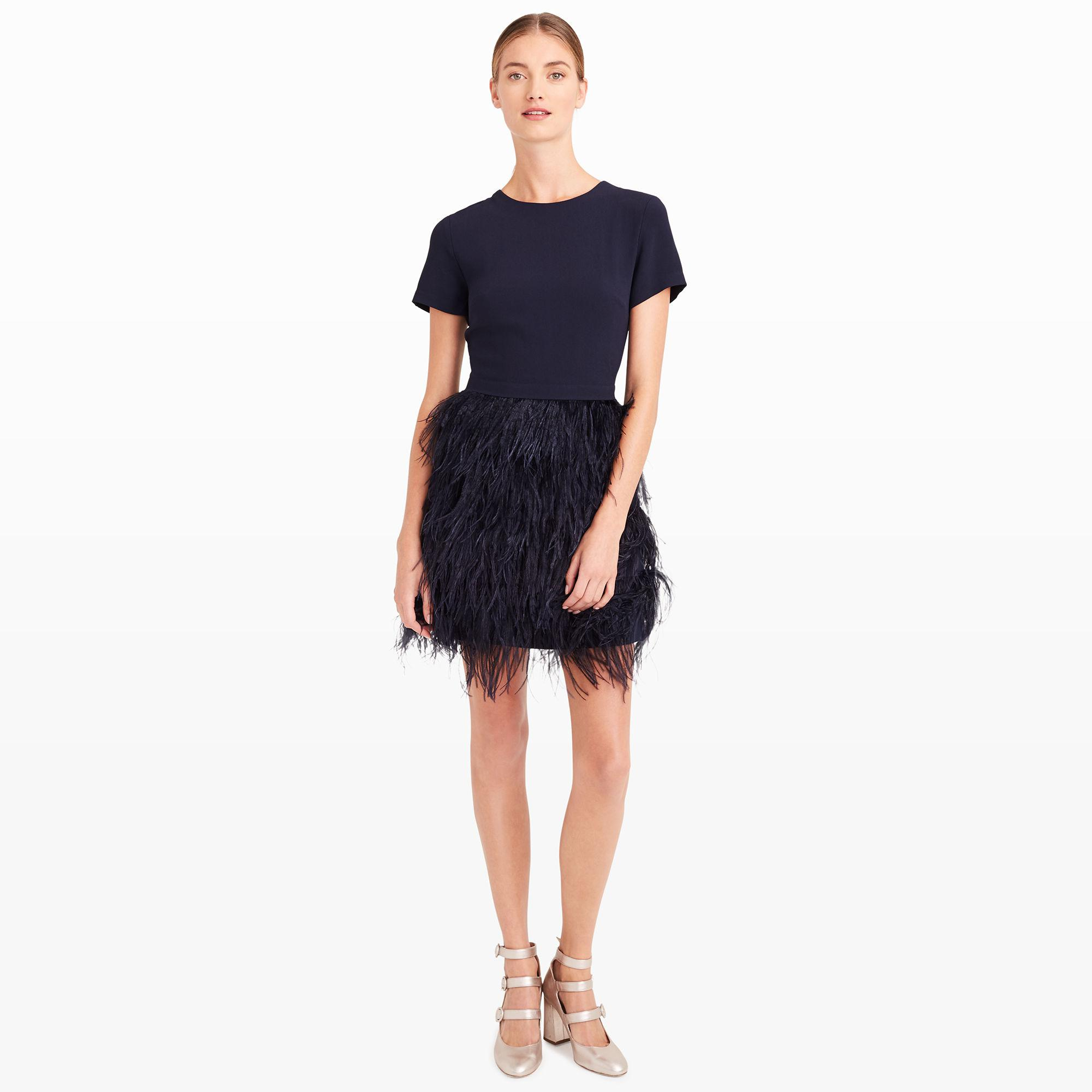 84505d57b2ff0 Lyst - Club Monaco Brionia Feather Dress in Blue