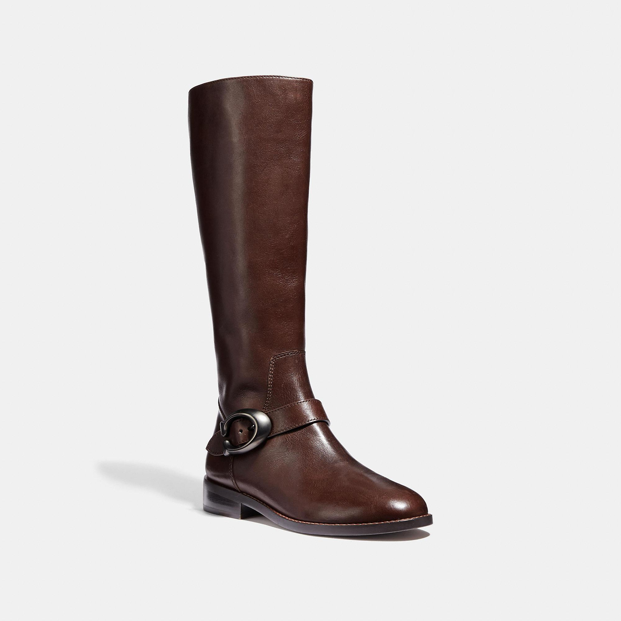 2a4a929357e8 Lyst coach riding boot in brown save jpg 2000x2000 Coach riding boots for  women