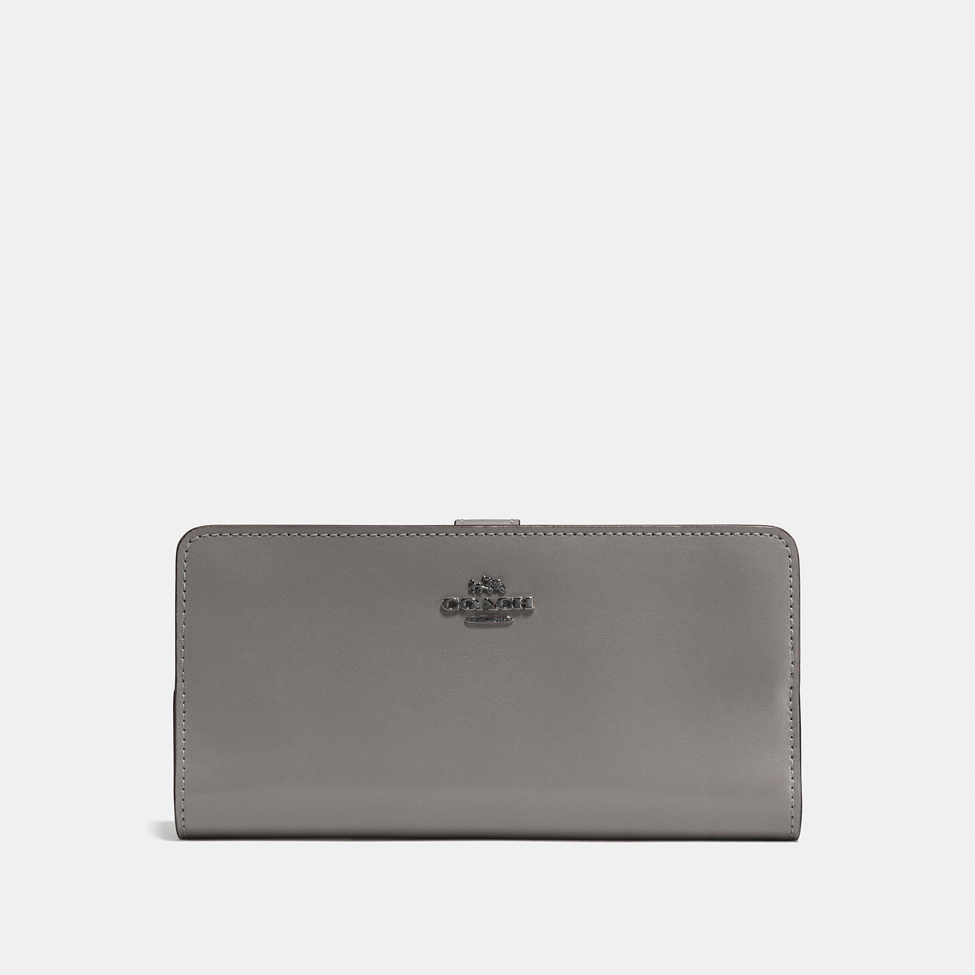 0a7f1a604e2b Lyst - COACH Skinny Wallet in Gray