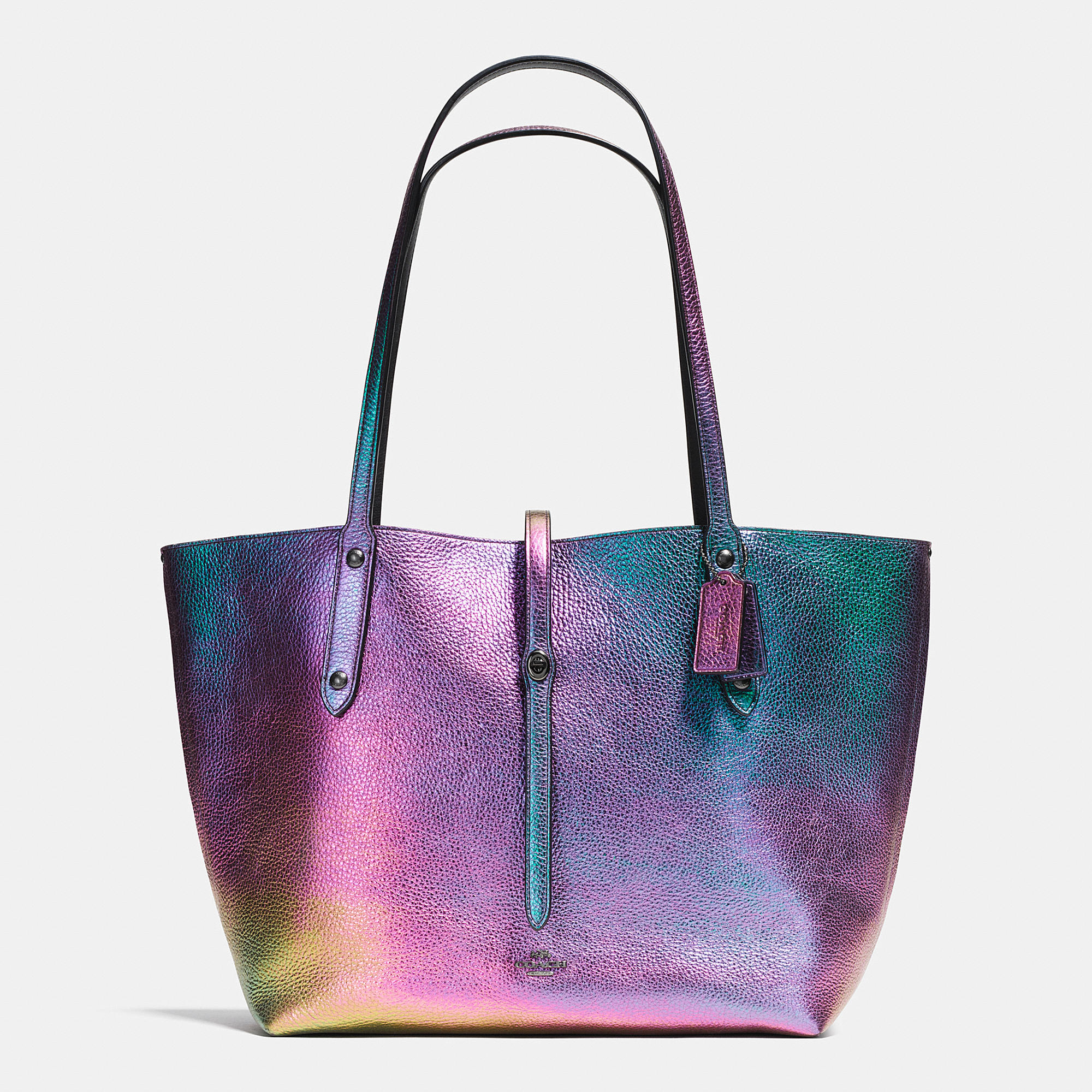 Coach Market Hologram Leather Tote Lyst
