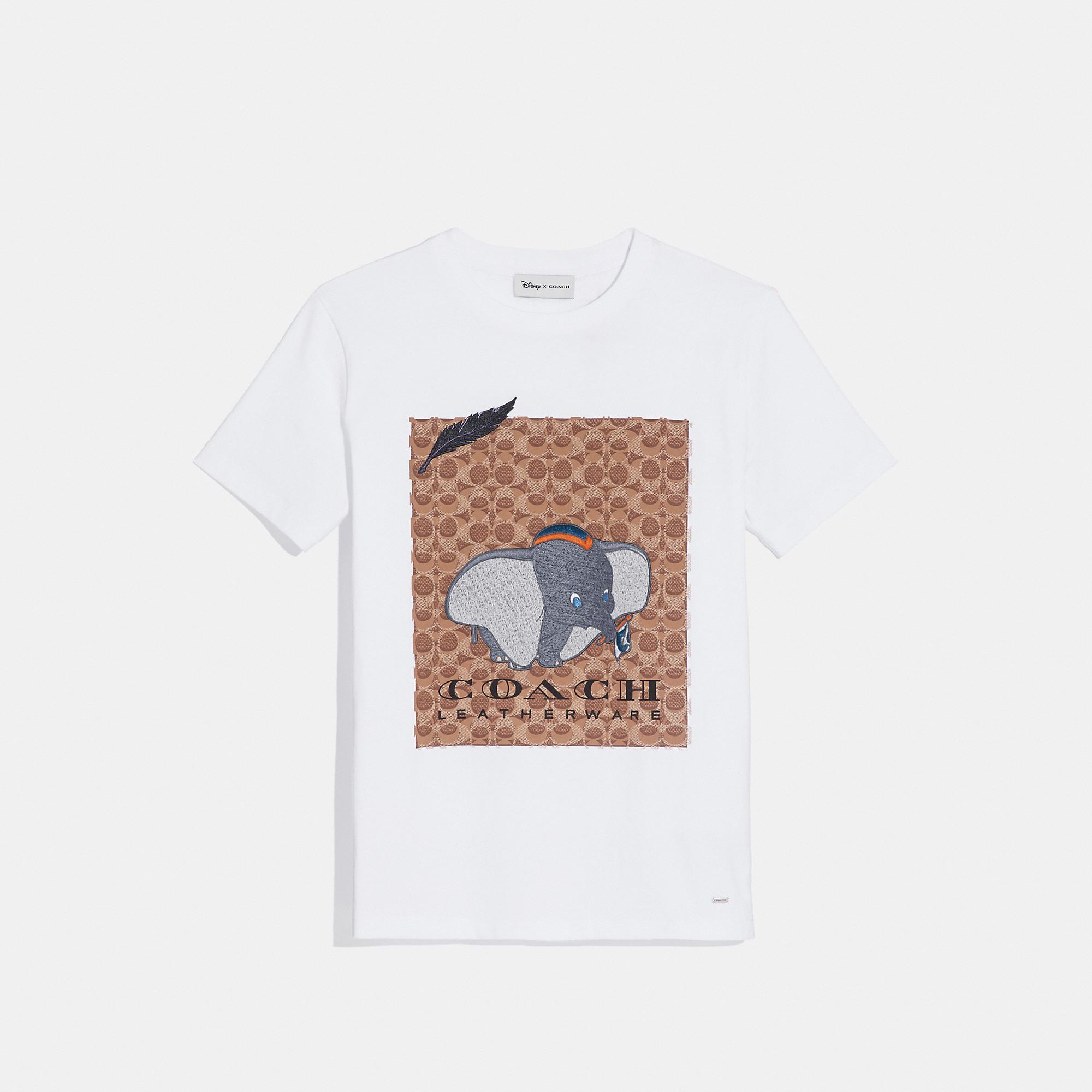0ef382e53 Lyst - COACH X Disney Dumbo Signature T-shirt in White - Save 12%