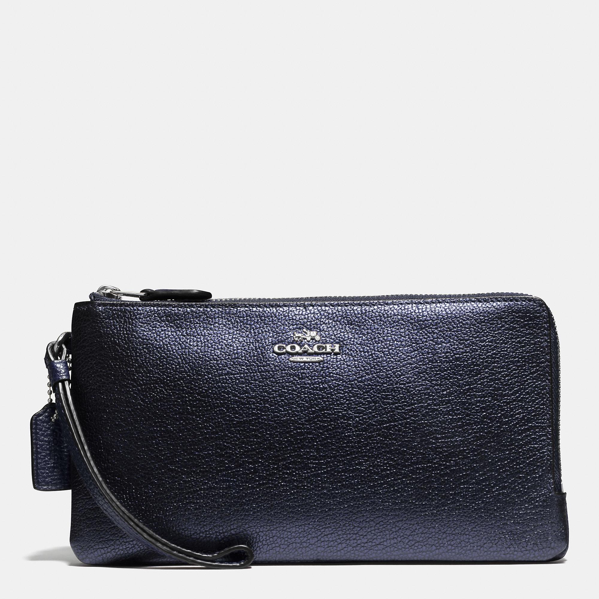 Women'S Italian Leather Double Zip Wallets 20