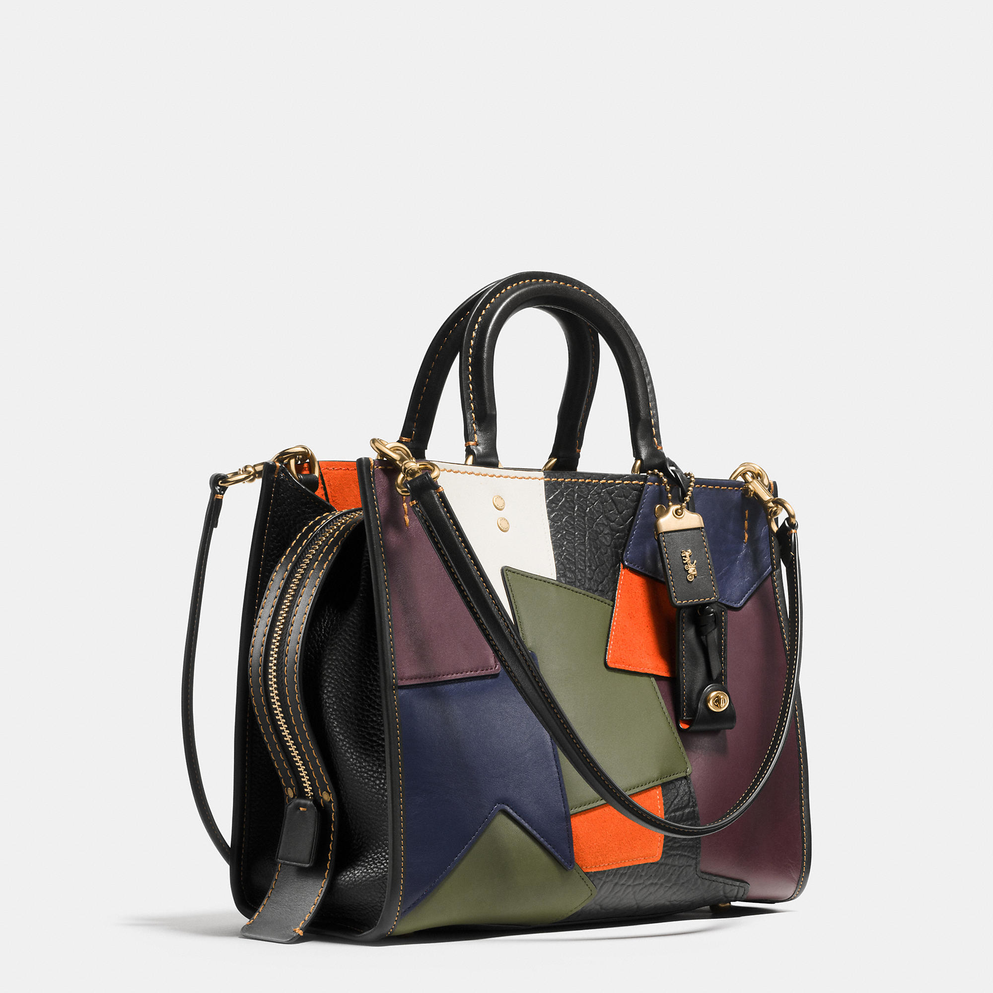 aa5288440efa Lyst - COACH Rogue Bag In Patchwork Leather