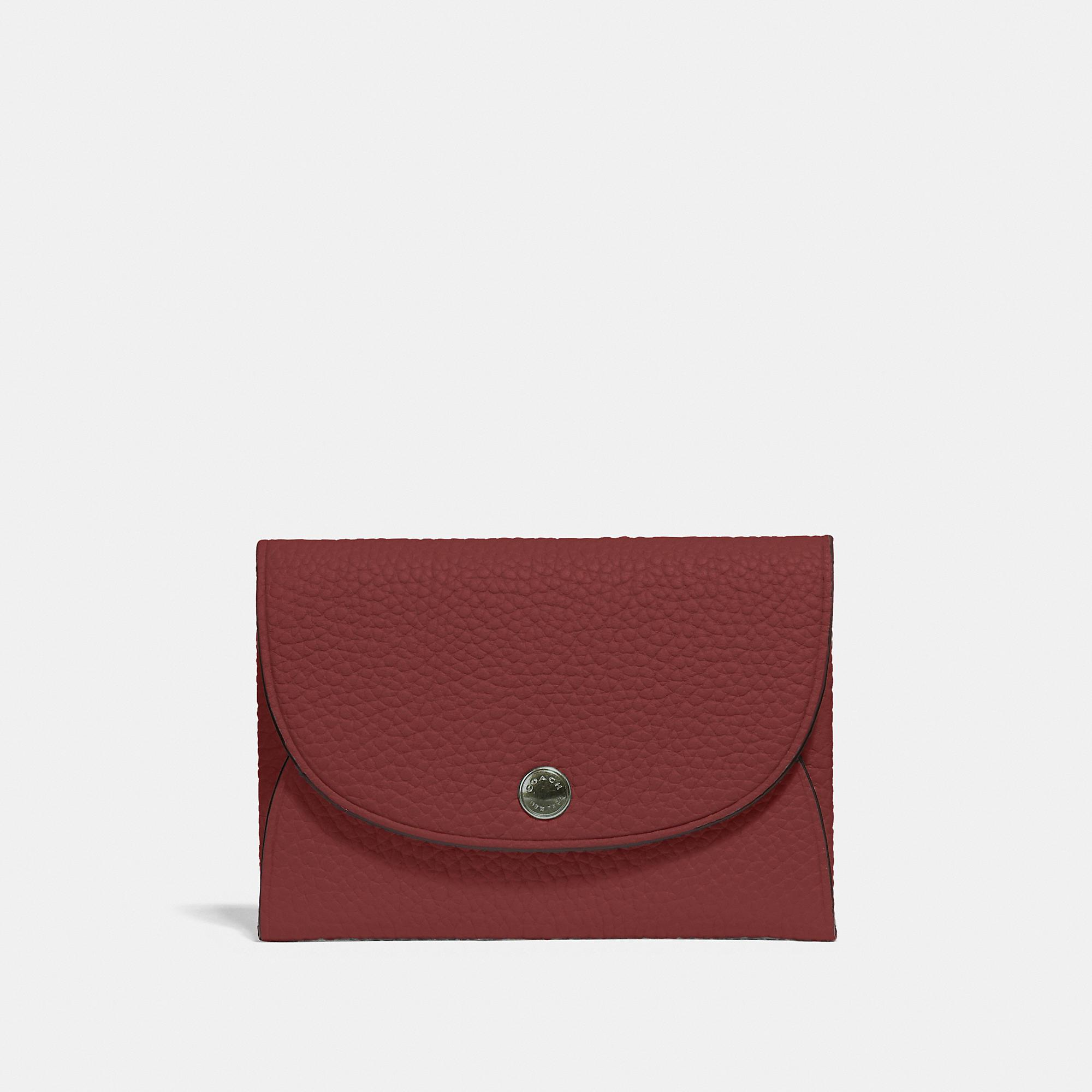 113bc5b7ed Lyst - COACH Snap Card Case In Colorblock in Red for Men