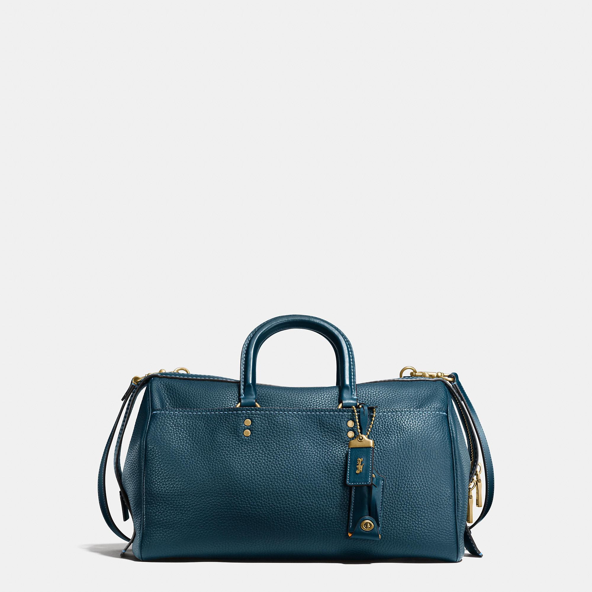 Lyst Coach Rogue Satchel 36 In Glovetanned Pebble