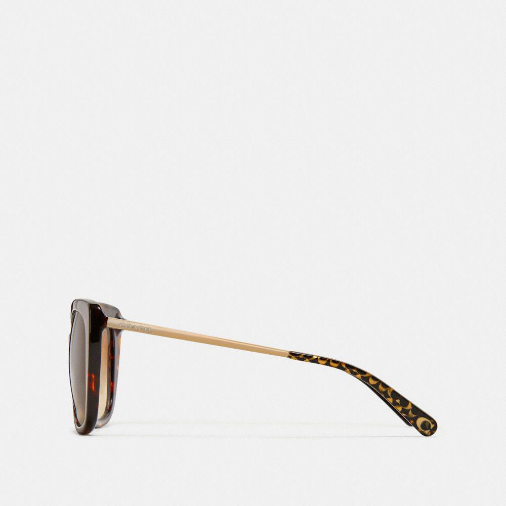b186ff9e92f2e ... shop lyst coach ombre signature square sunglasses in brown 6bf4b cce57  ...