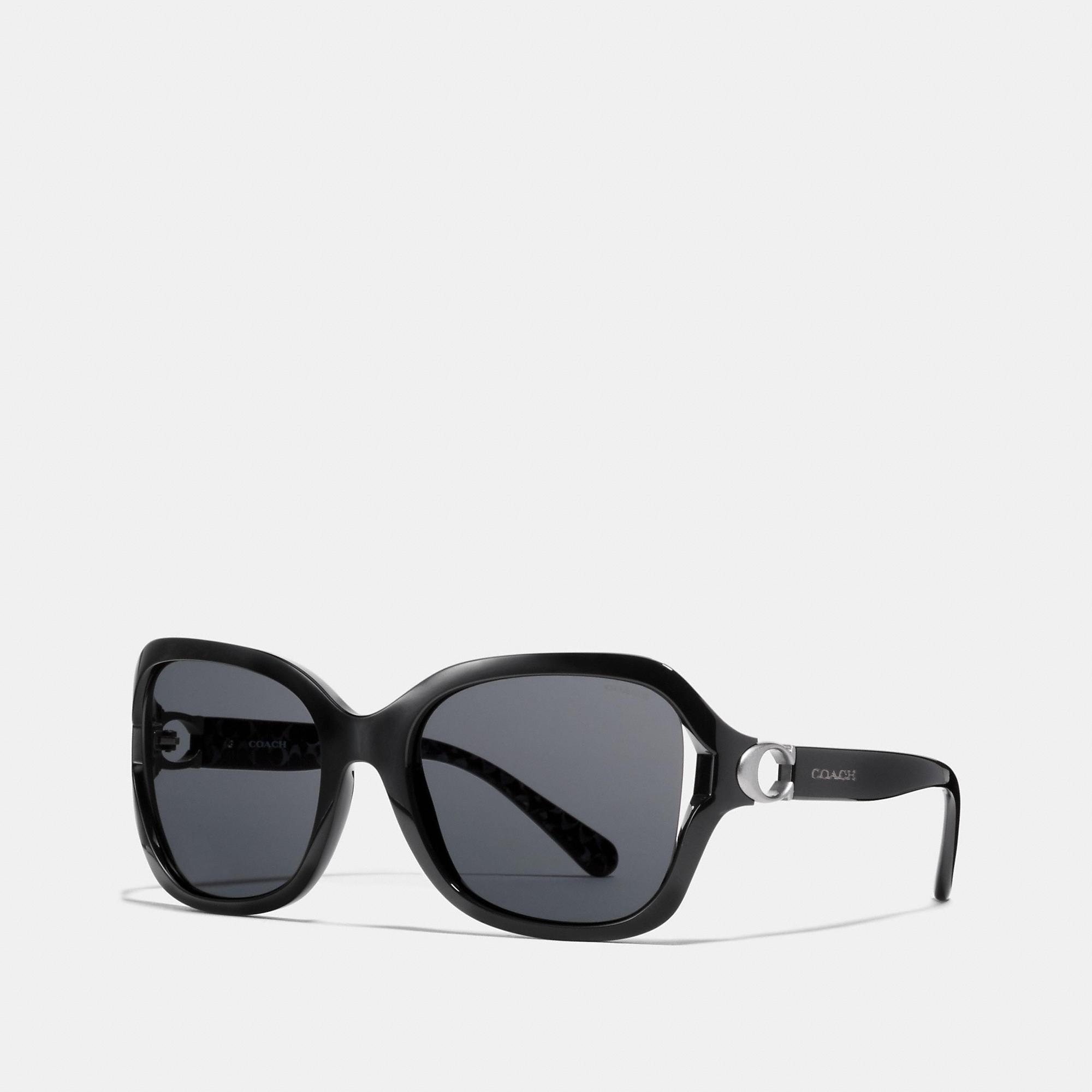 11333fa03b1e COACH Black Signature Hardware Sunglasses. View fullscreen