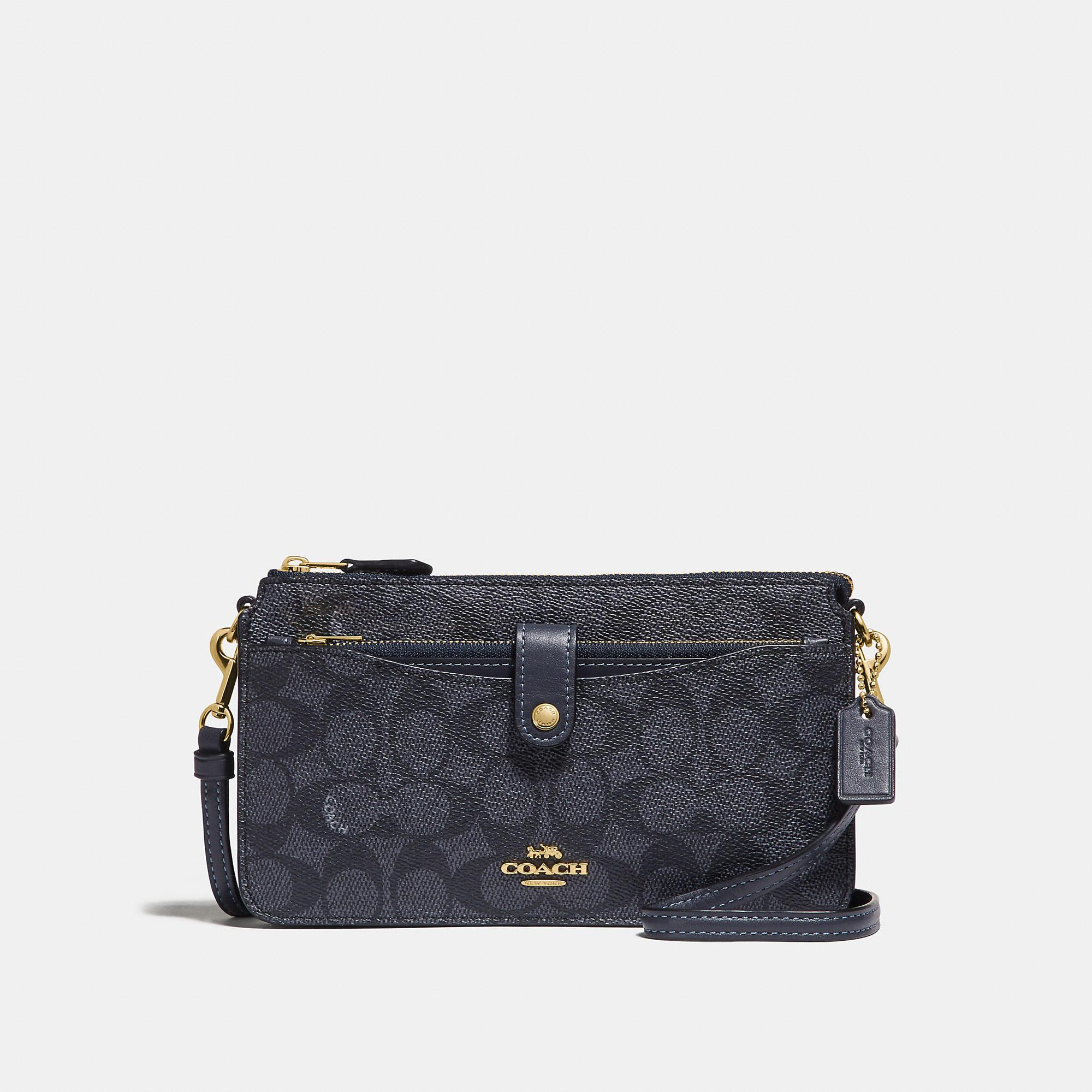 2db26768b2 Lyst - COACH Noa Pop-up Messenger In Colorblock Signature Canvas in Blue