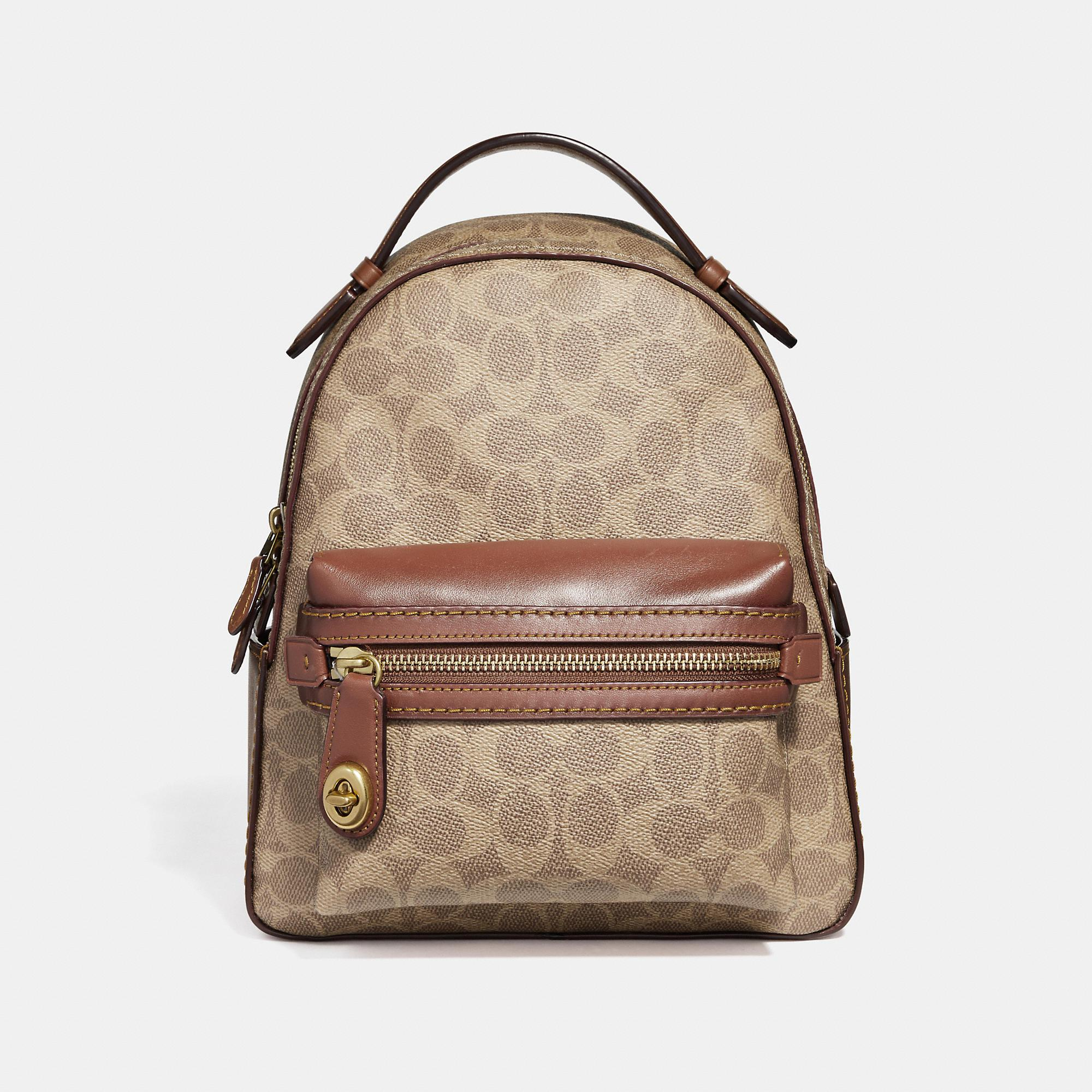 0c572048e8c94 Lyst - COACH Campus Backpack 23 In Signature Canvas in Brown