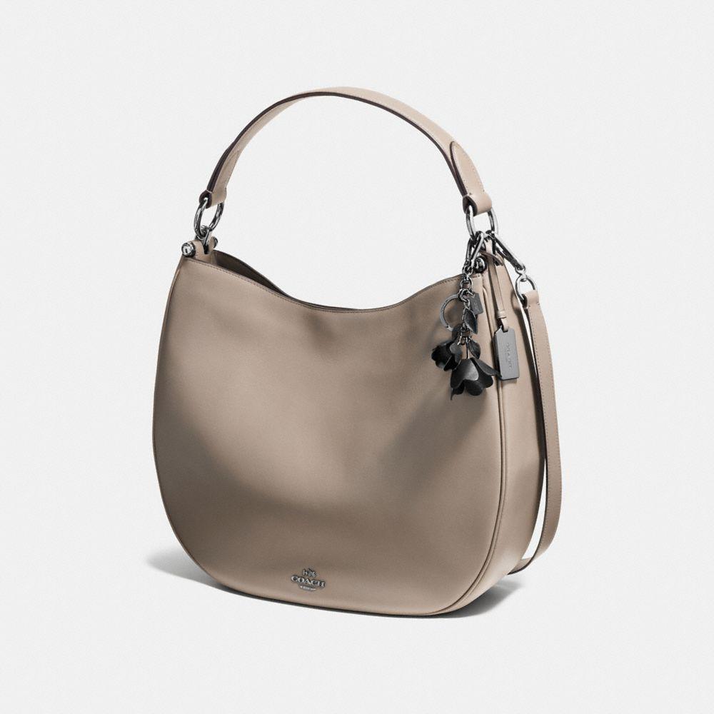 Coach Tea Rose Leather Bag Charm kCHh9hU1