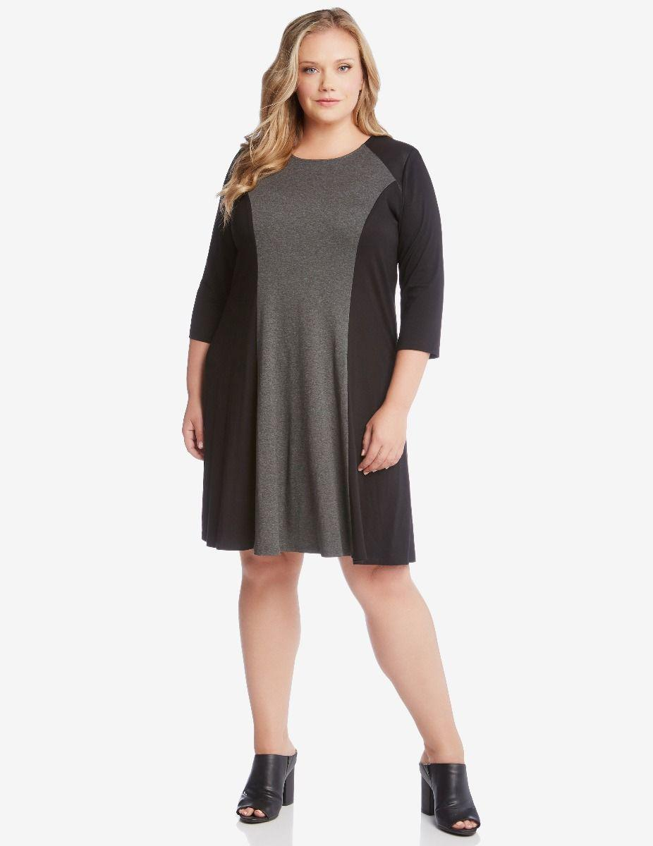608b7bd72e5 Lyst - Karen Kane Colorblock Dress in Black