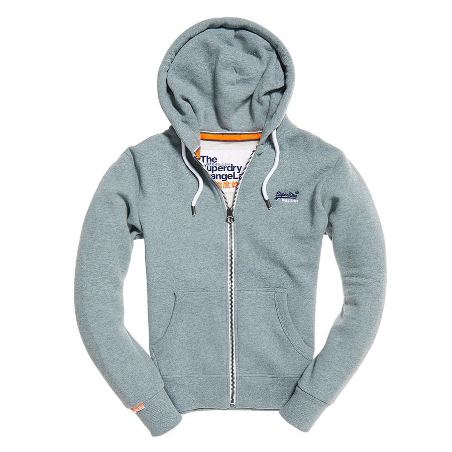 Lyst - Superdry Orange Label Ziphood in Orange for Men 754ae2065372