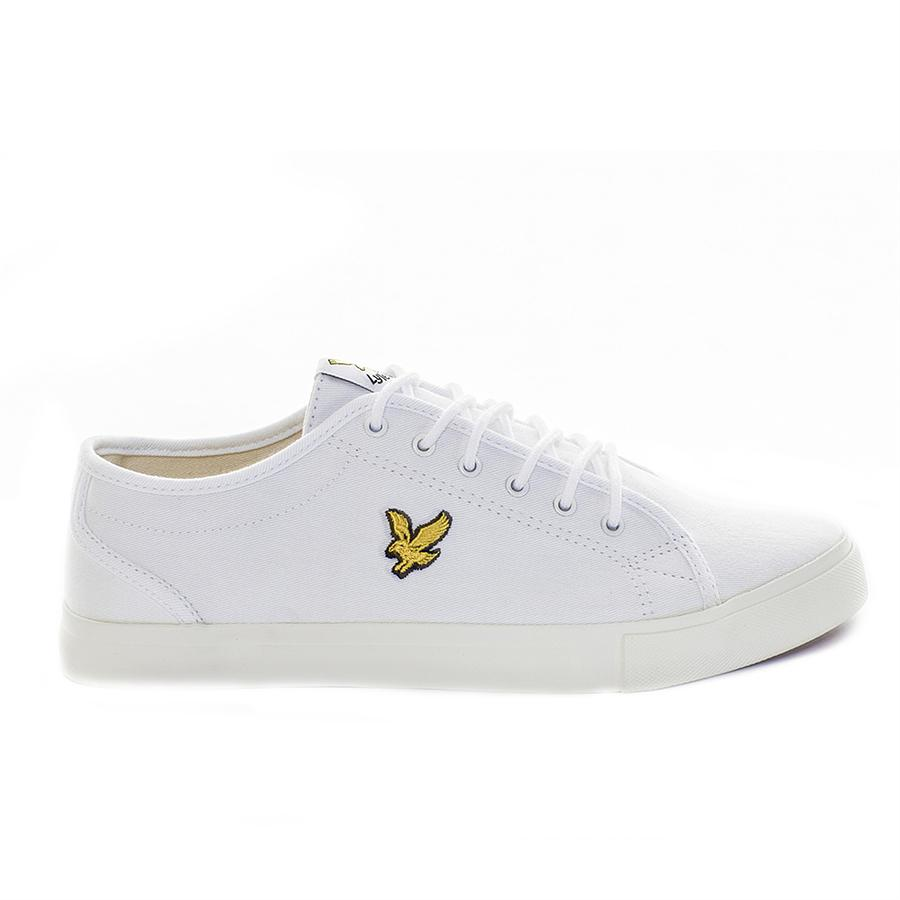 2a6e47d5c3ed Lyst - Lyle   Scott Teviot Twill Plimsolls in White for Men