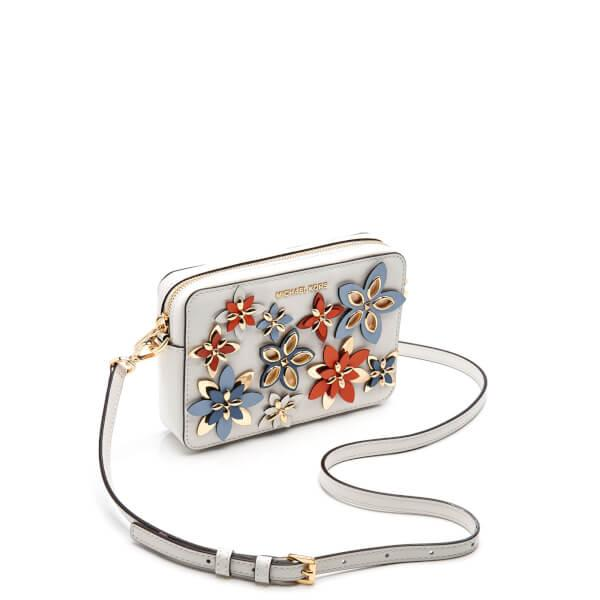 Lyst - Michael Michael Kors Womenu0026#39;s Flowers Pouches Mid Camera Bag In White