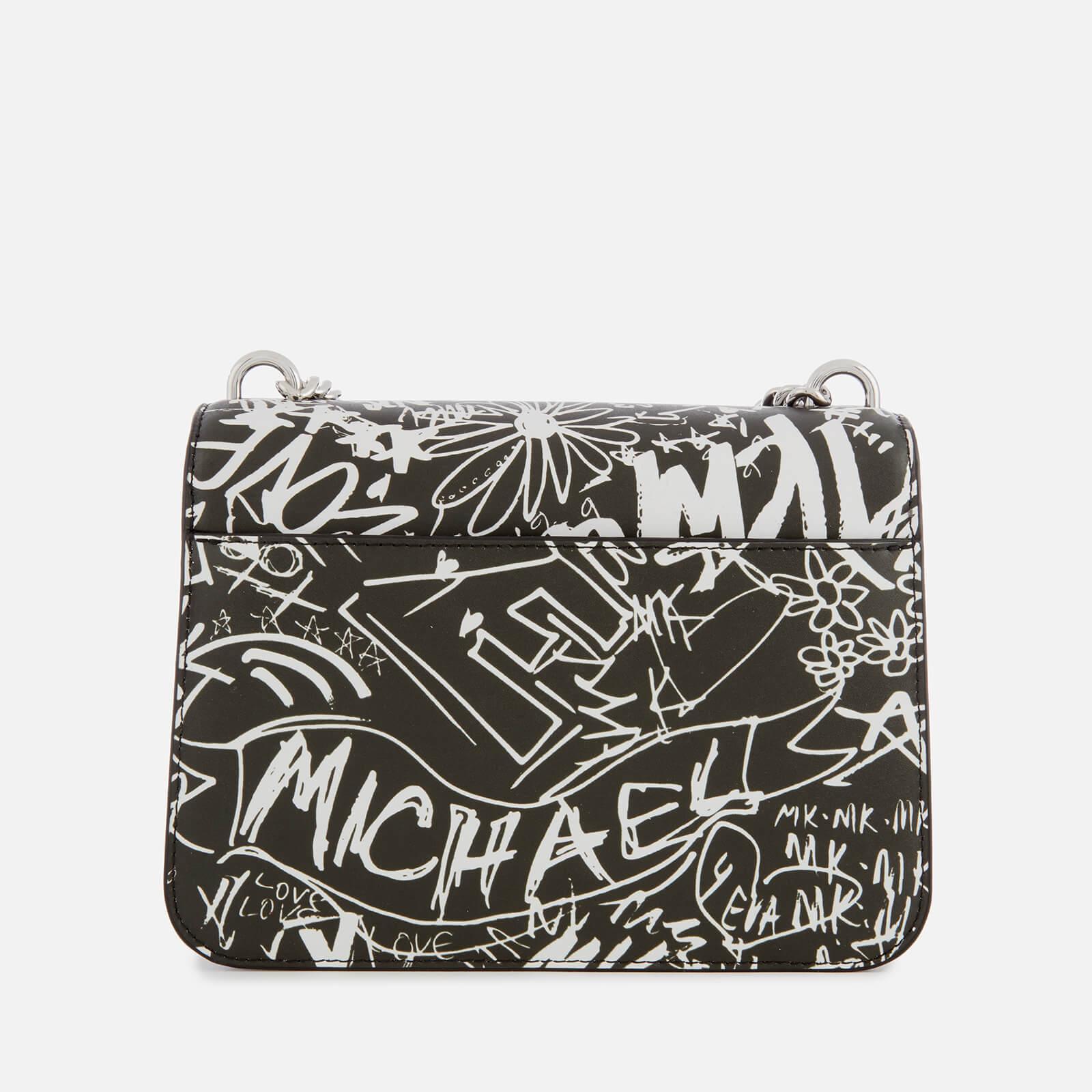 c18c8e8531dc MICHAEL Michael Kors - Multicolor Graffiti Calia Leather Cross Body Bag -  Lyst. View fullscreen