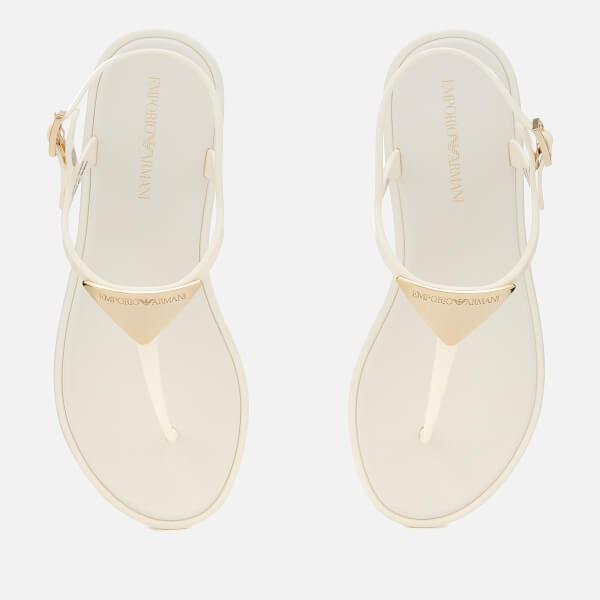 a94b6c56a7346b Emporio Armani - White Women s Coqui Soft Jelly Sandals - Lyst. View  fullscreen