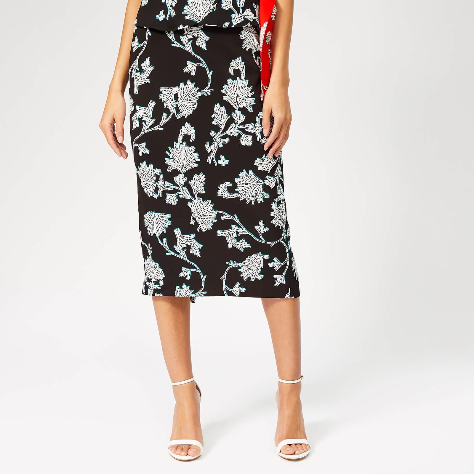 977a8895d Diane von Furstenberg - Black Single-vented Skirt - Lyst. View fullscreen