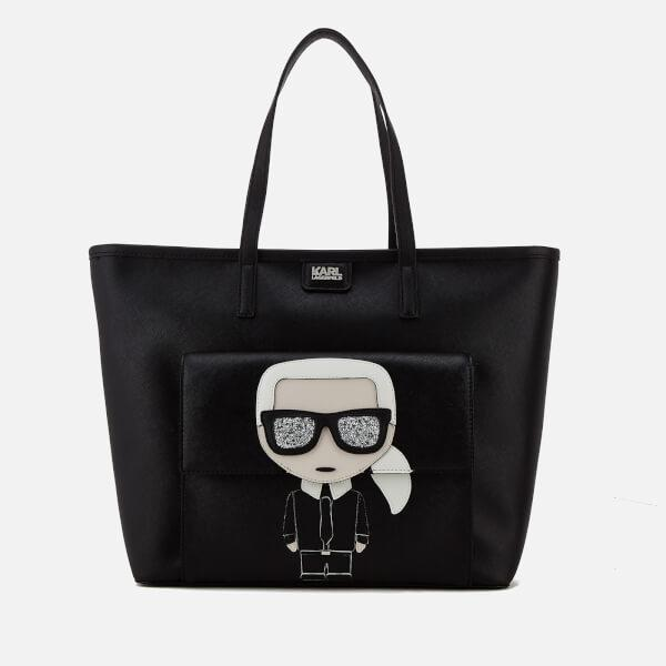 Outlet Pay With Paypal Discount Excellent Black Karl Ikonik shopper bag Karl Lagerfeld Free Shipping Low Shipping Clearance Really Original t0Pjo5S