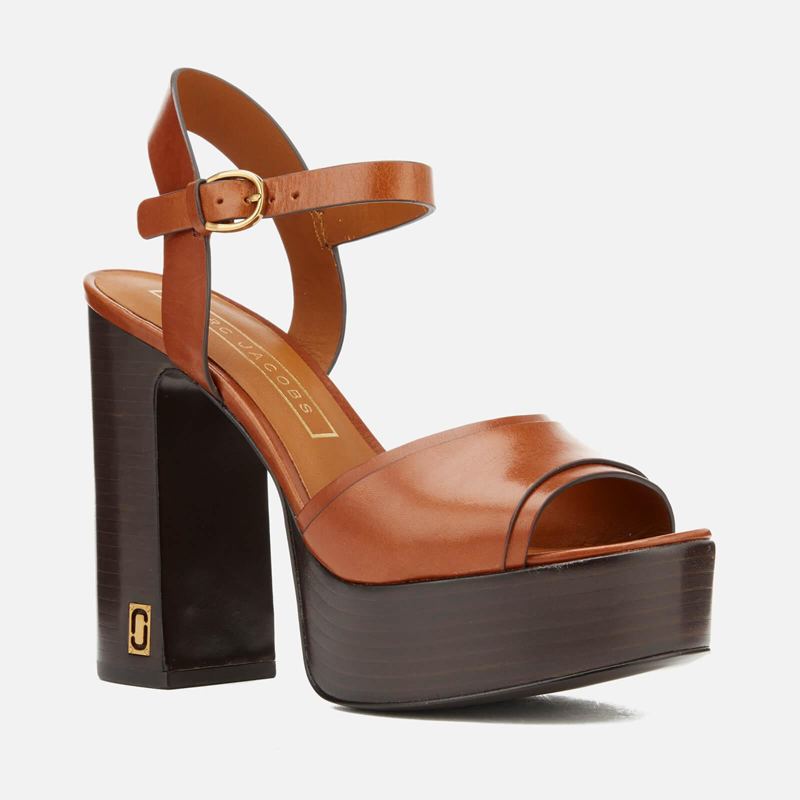 f465a6052a0e Marc Jacobs Lust Status Platform Sandals in Brown - Save 70% - Lyst
