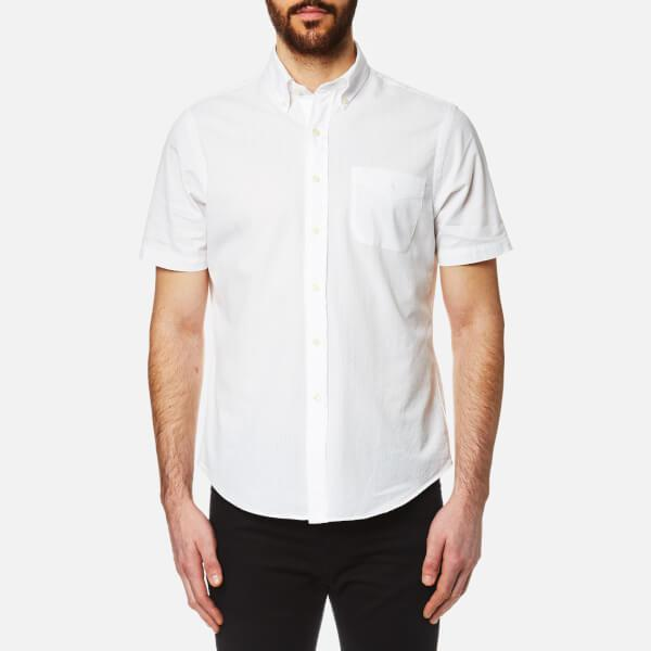 Lyst polo ralph lauren men 39 s seersucker short sleeve for Mens short sleeve seersucker shirts