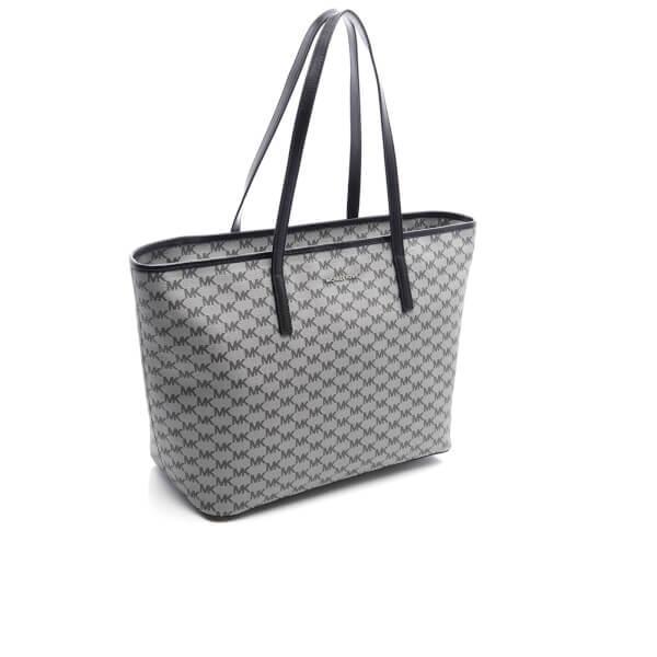 7f6a2f917dfa Michael Michael Kors Women s Emry Large Top Zip Tote Bag in Black - Lyst