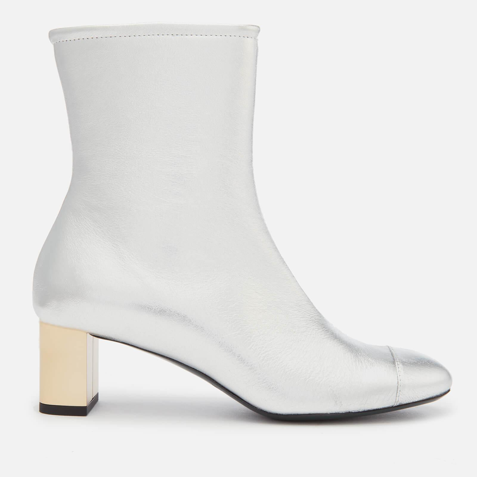 0658c6a6ffd Mulberry Leather Heeled Ankle Boots in Metallic - Lyst