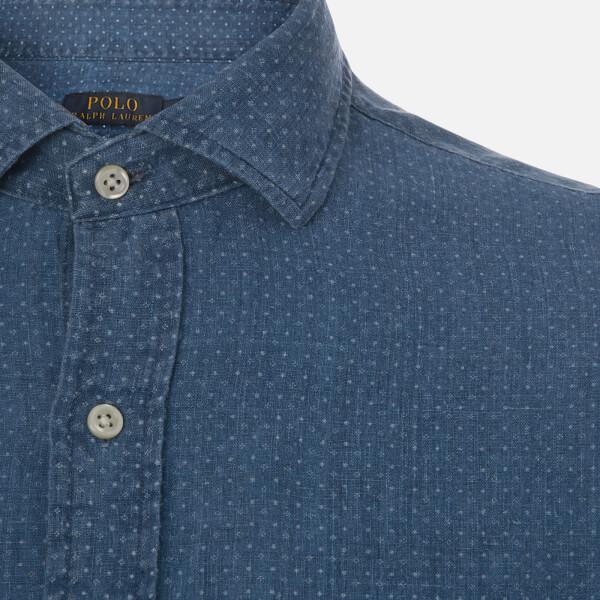 d8ff00170 ... usa polo ralph lauren blue mens linen spead estate shirt for men lyst.  view fullscreen