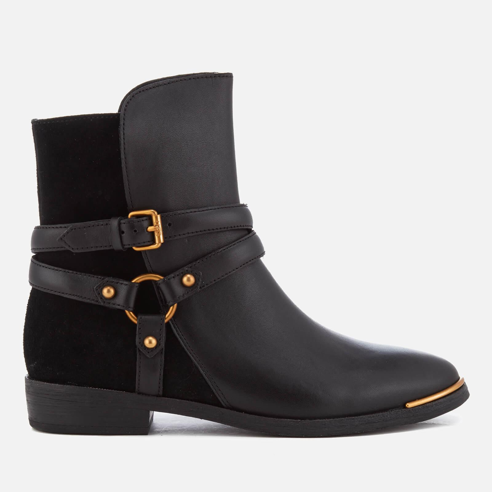 6e204d73f3f9 UGG Kelby Leather Ankle Boots in Black - Lyst