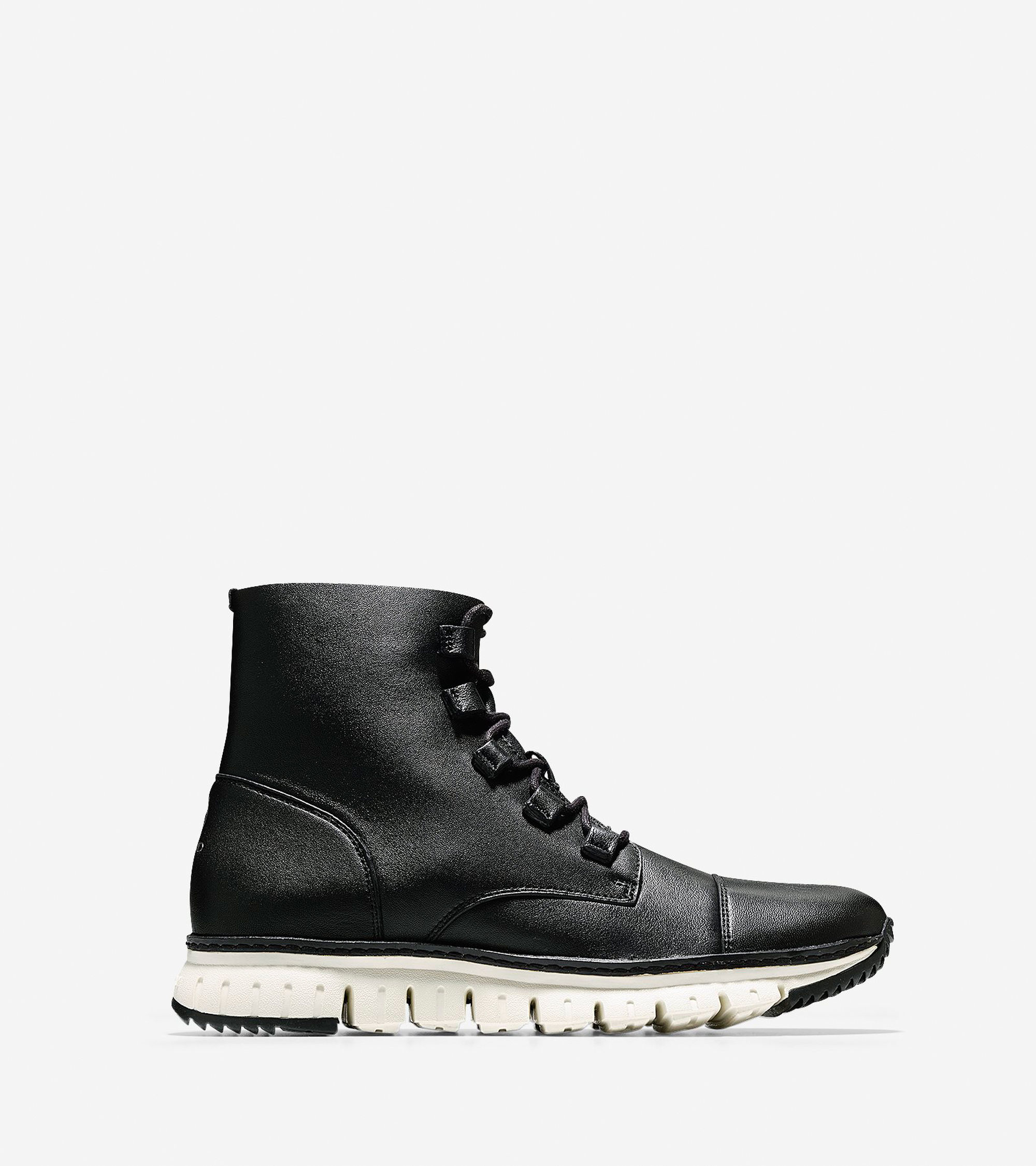 cole haan s zer 248 grand cap toe boot in black for lyst