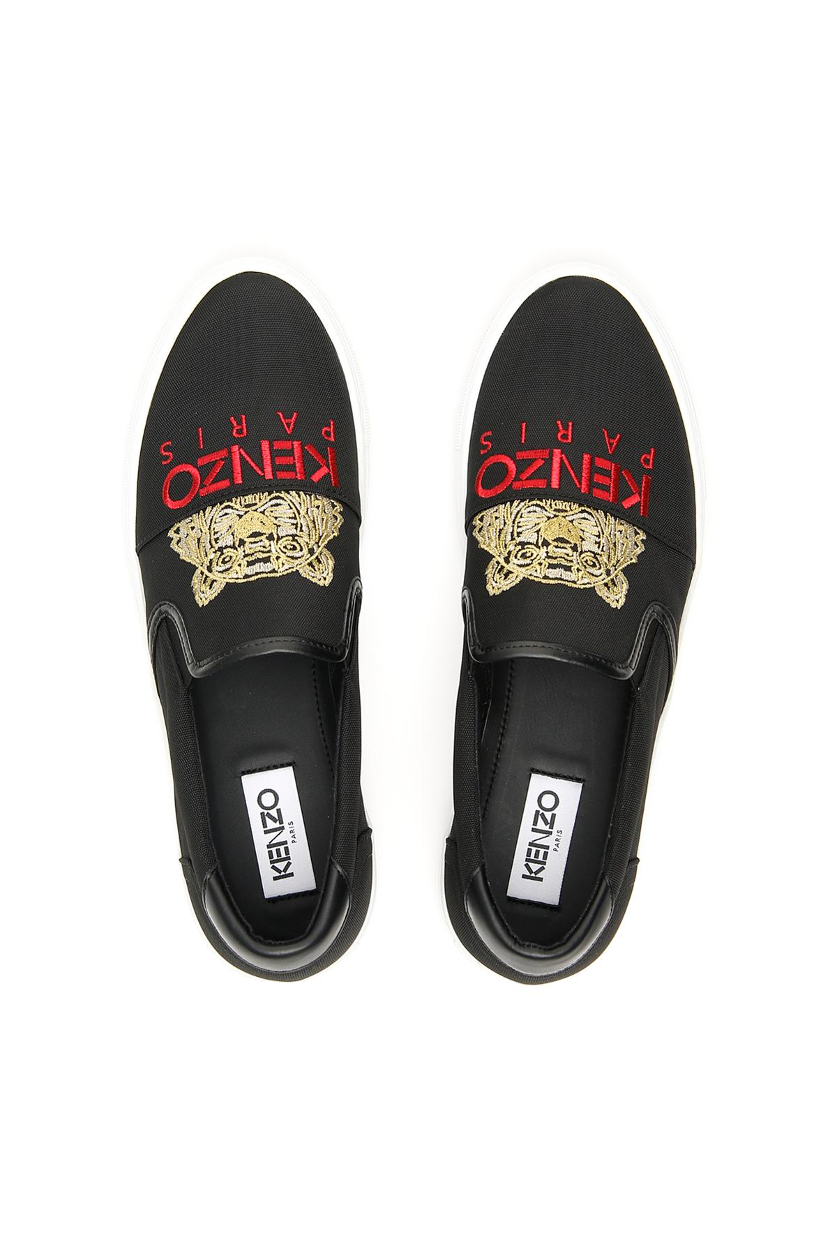 3236b15e KENZO Chinese New Year K-skate Slip-ons in Black for Men - Lyst