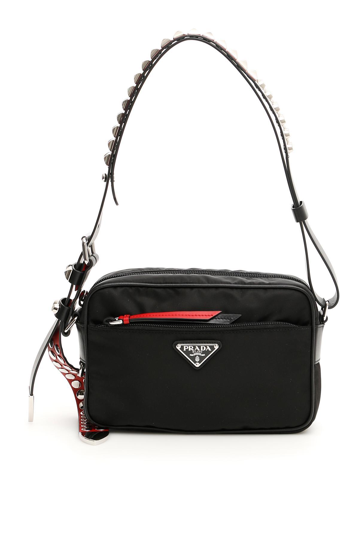 06d2bd982727e6 Prada New Vela Bag in Black - Lyst