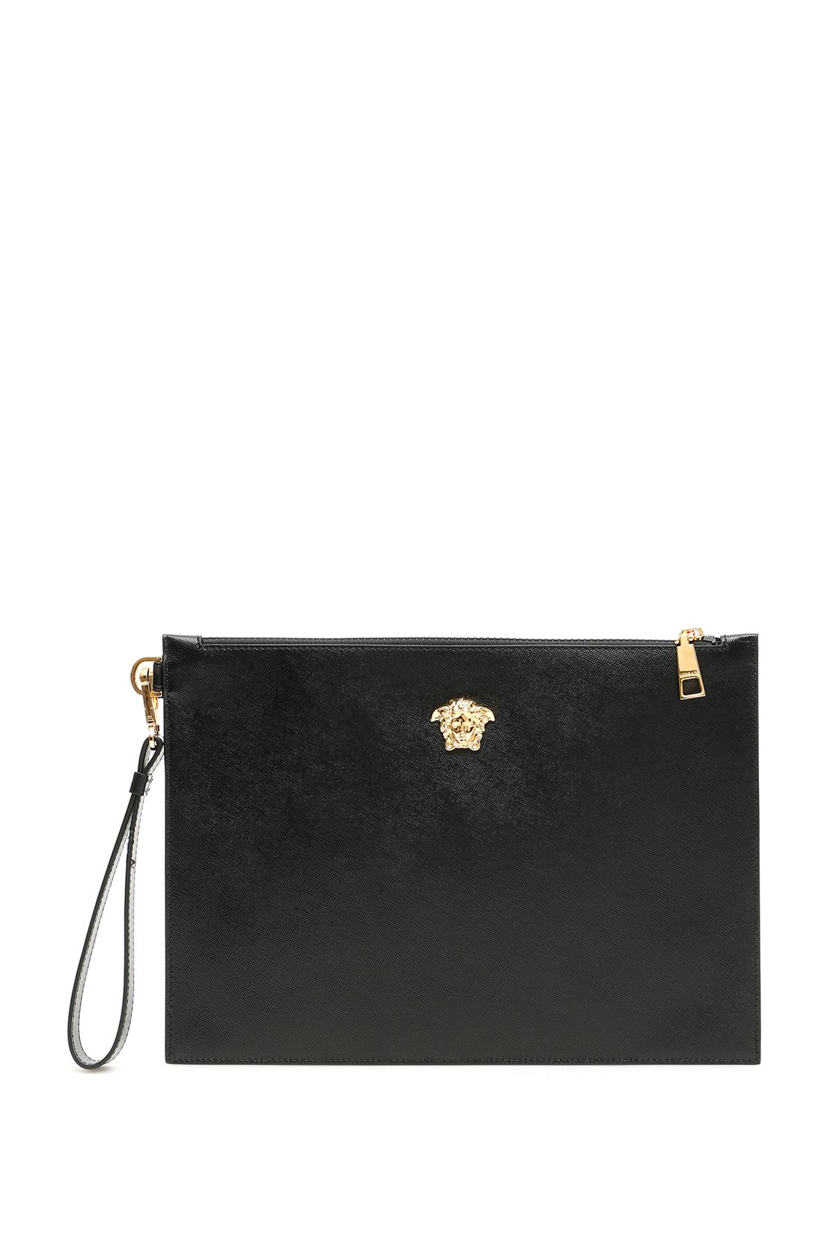 Lyst - Versace Medusa Palazzo Pouch in Black for Men 75653400cce49