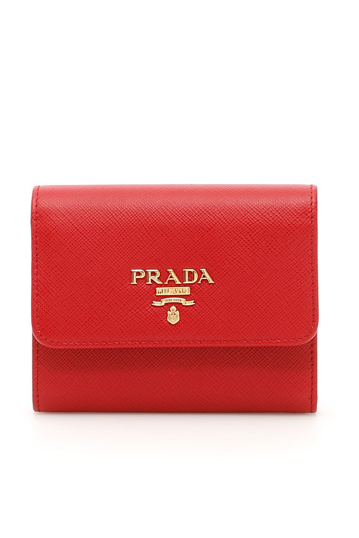 beb70b6e3aa4 Lyst - Prada Flap Wallet in Red