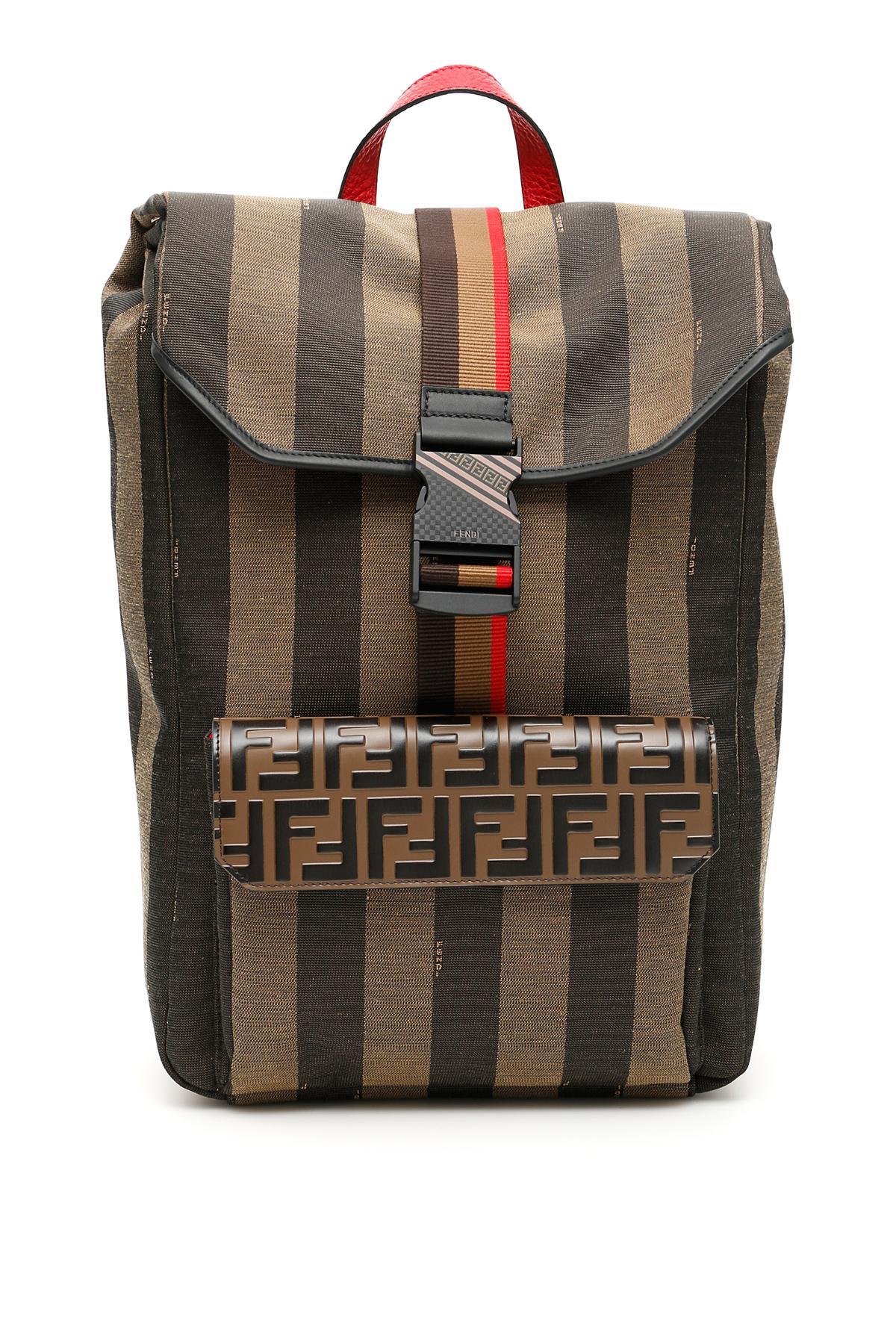 ff25fedc5e7a Lyst - Fendi Ff Striped Canvas Backpack for Men - Save 18%