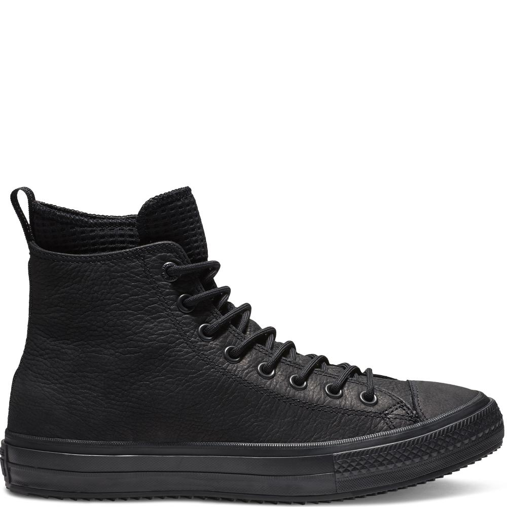 Converse Chuck Taylor All Star Waterproof Leather High Top in Black ... 2250059ee
